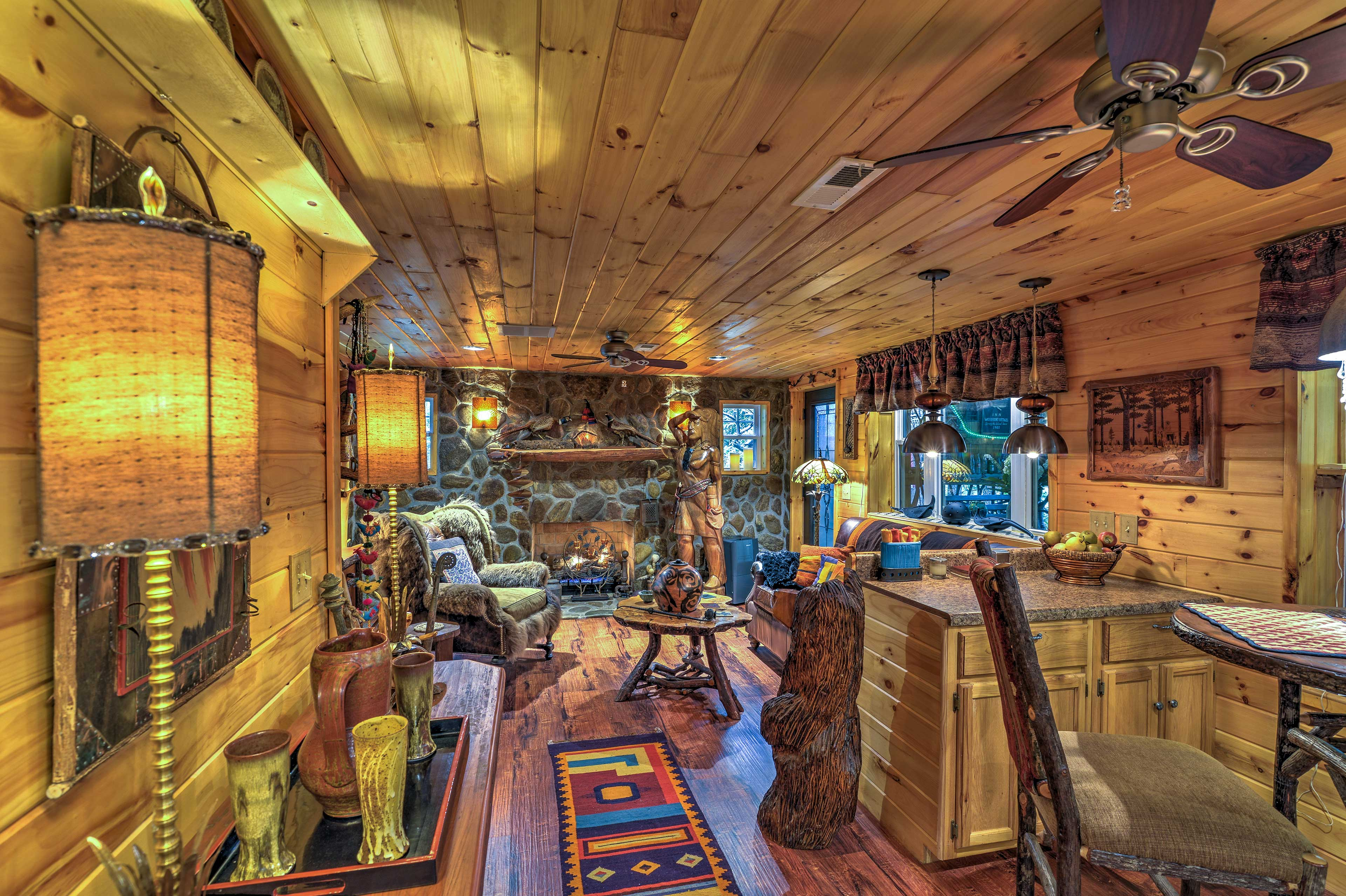 Escape to a secluded vacation rental cabin in the lush Pisgah National Forest.