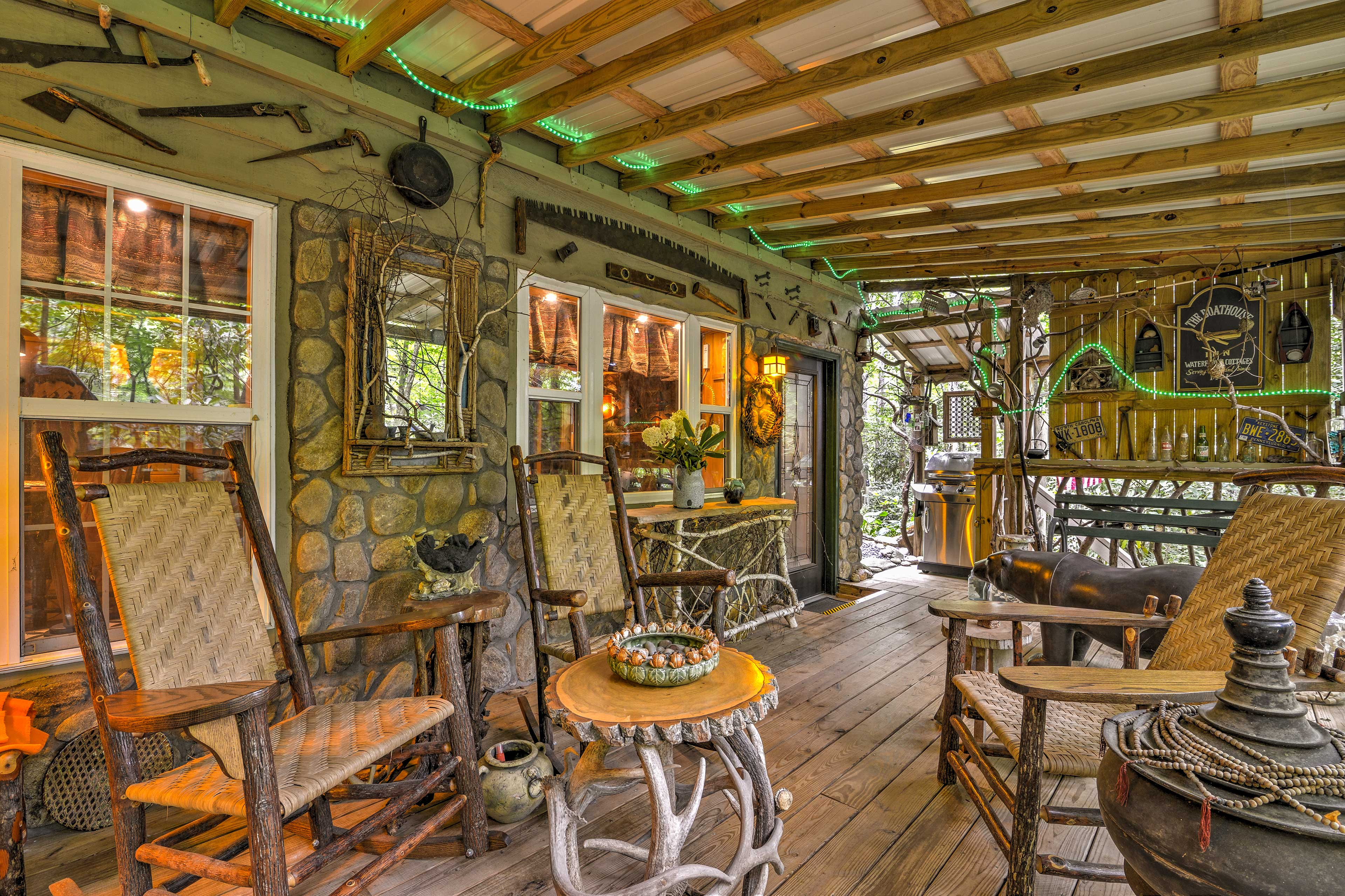Take dinner outside and spend a night eating on the covered deck!