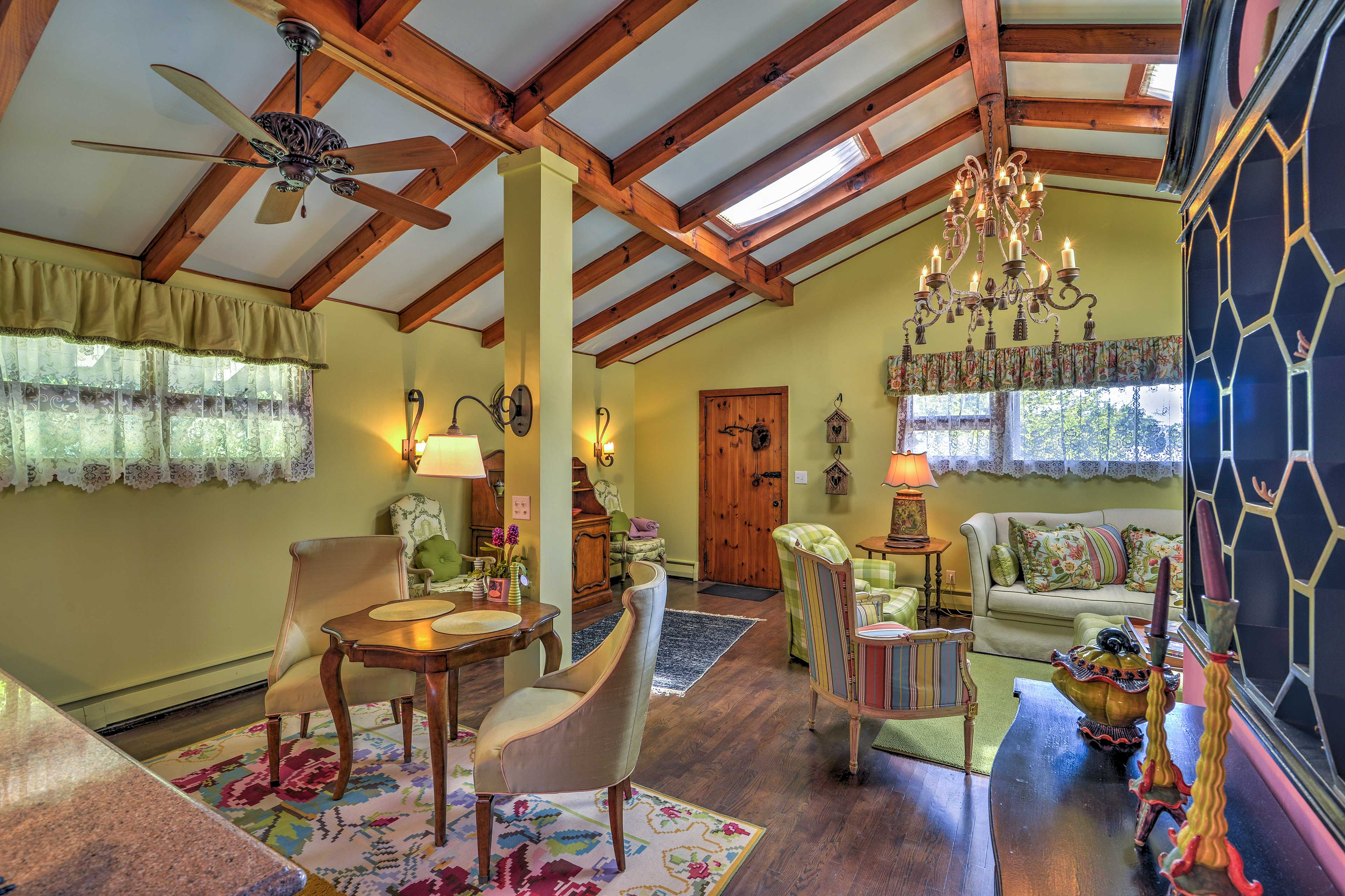 You'll love the beam ceilings!