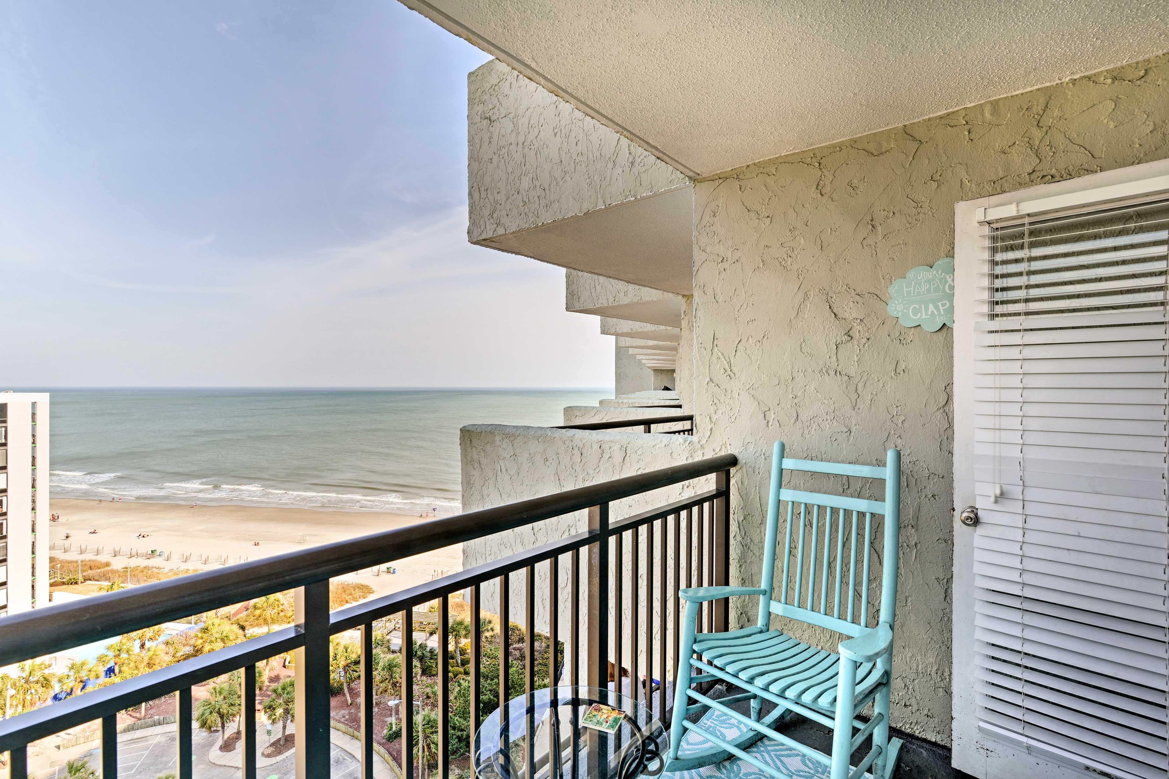 Myrtle Beach Vacation Rental | 1BR | 1BA | 500 Sq Ft | 15th Floor w/ Elevator