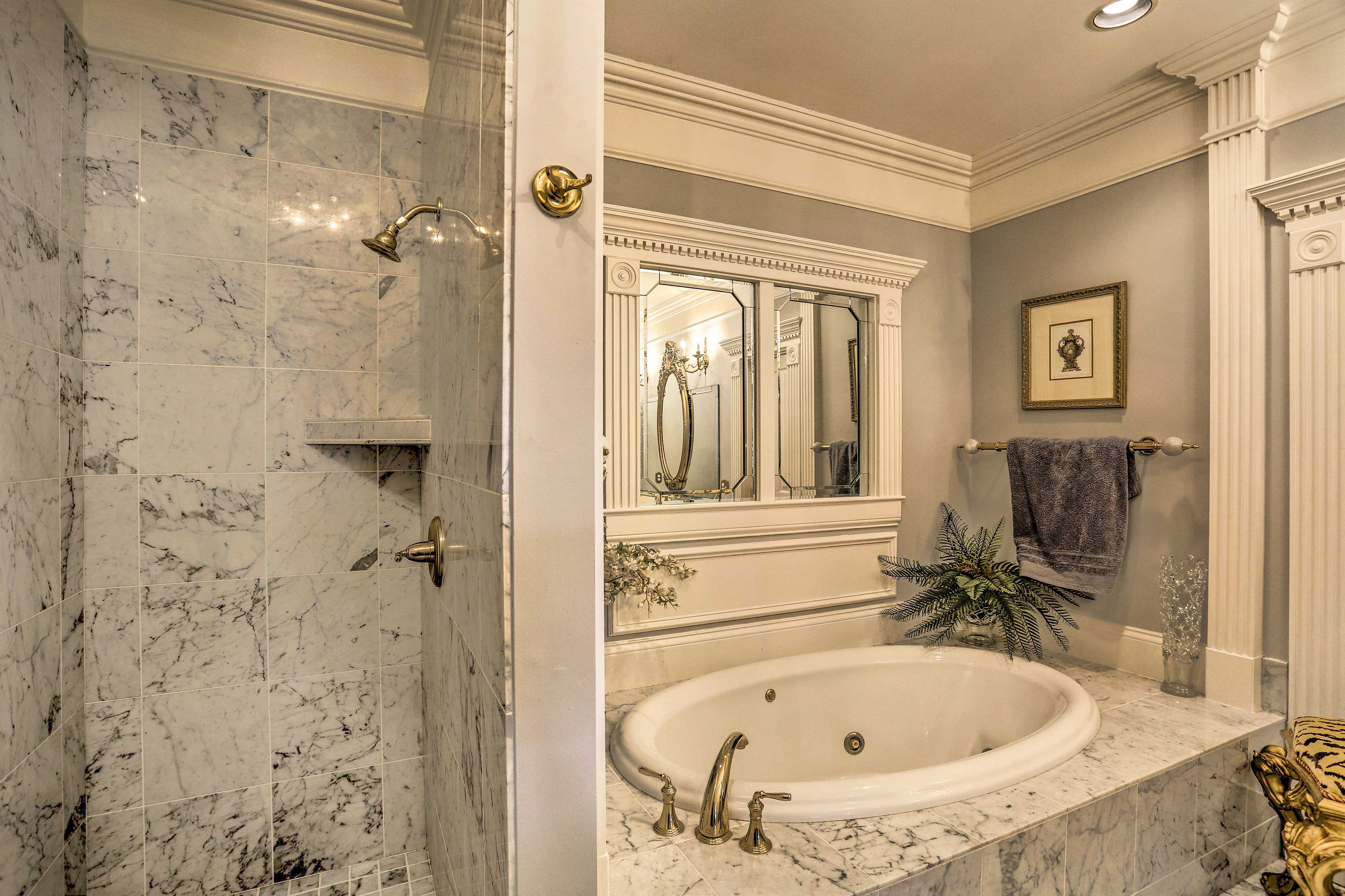 Hop in the shower or soak in the tub - it's your choice!