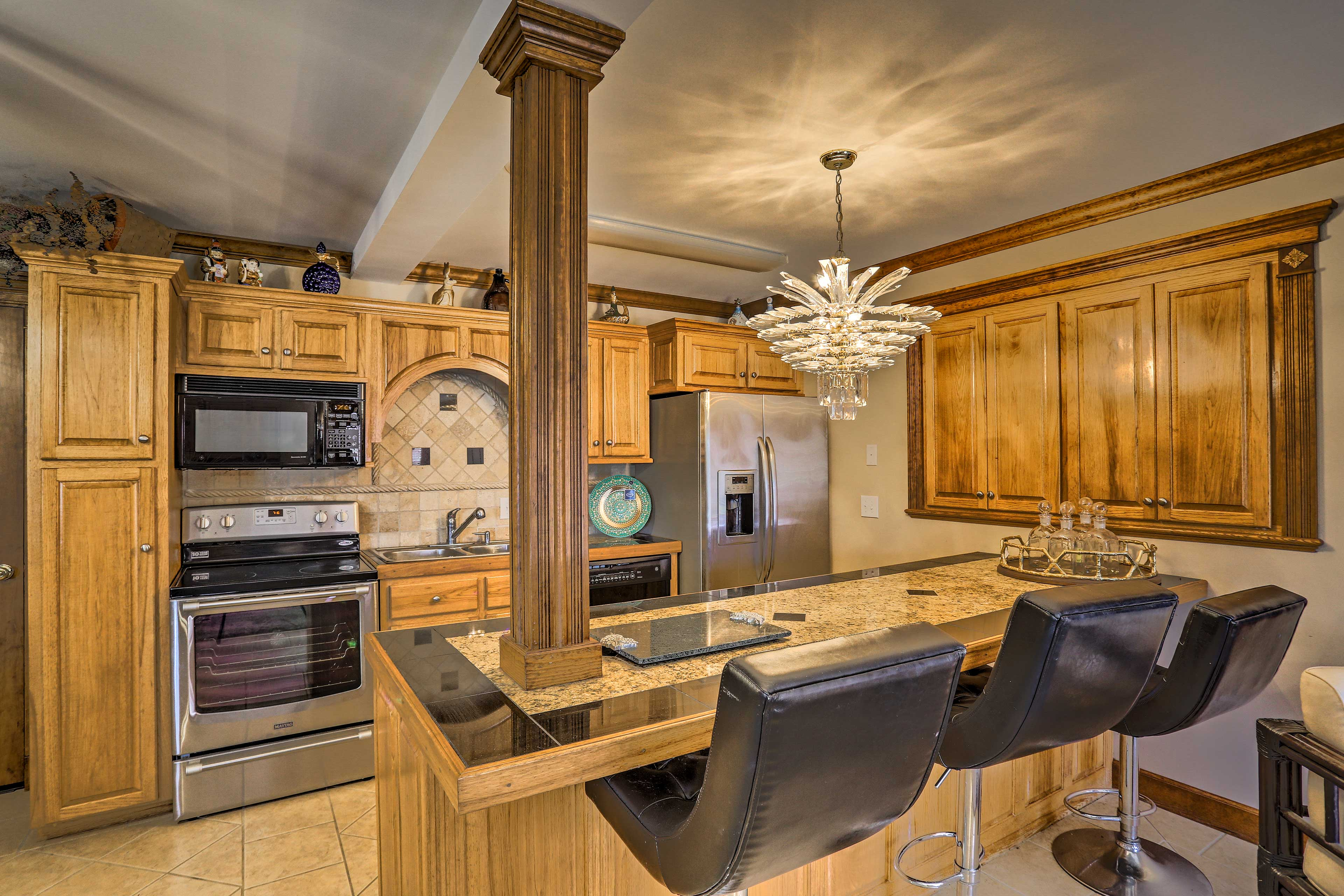 This home offers 2 fully equipped kitchens!