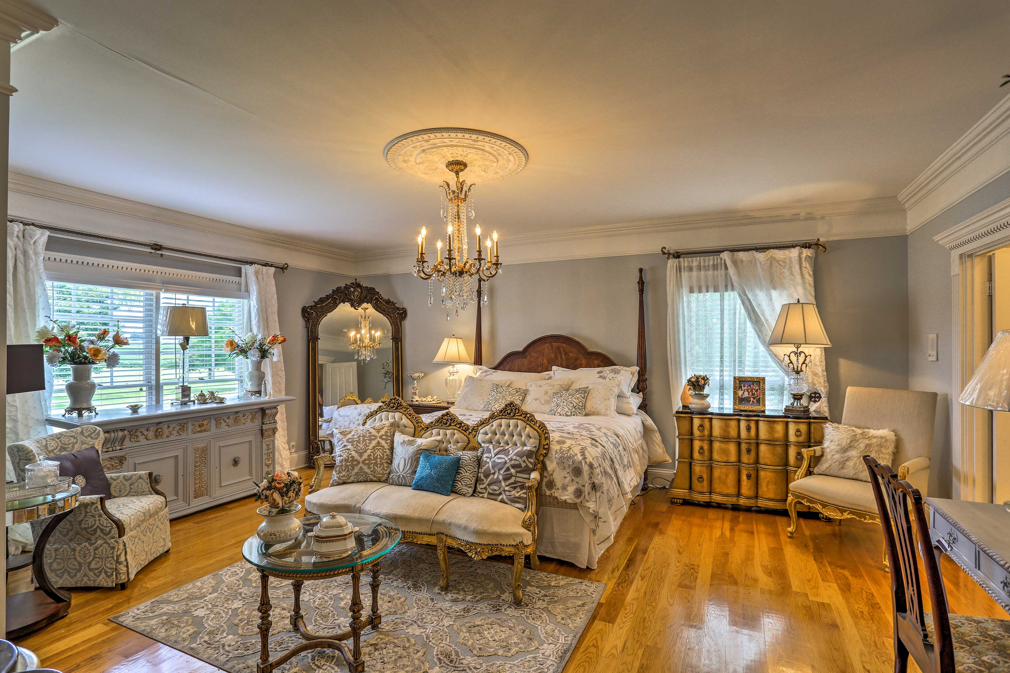 Two guests can claim the king bed in the 'Bridal Room.'