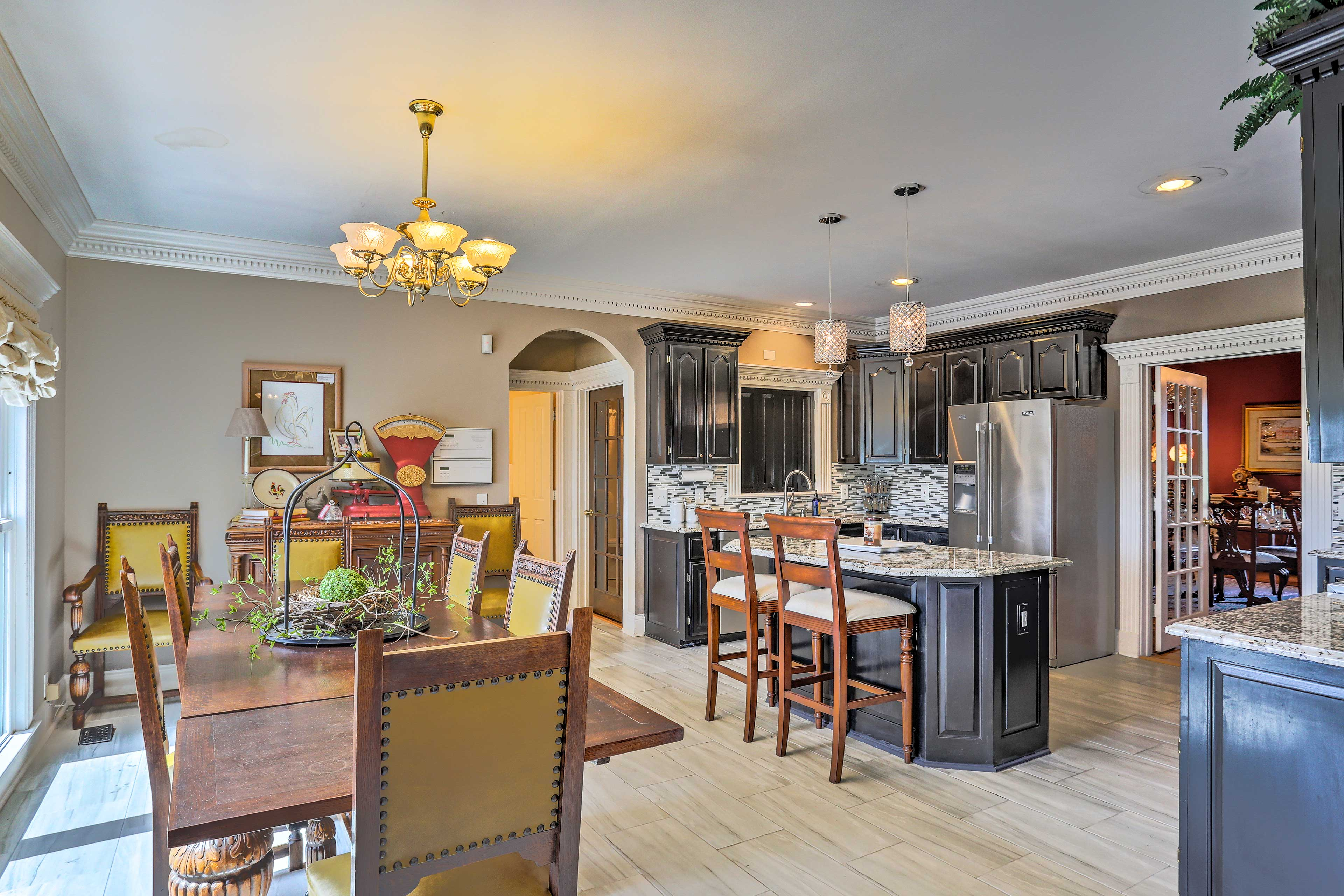 Head into the first fully equipped kitchen!