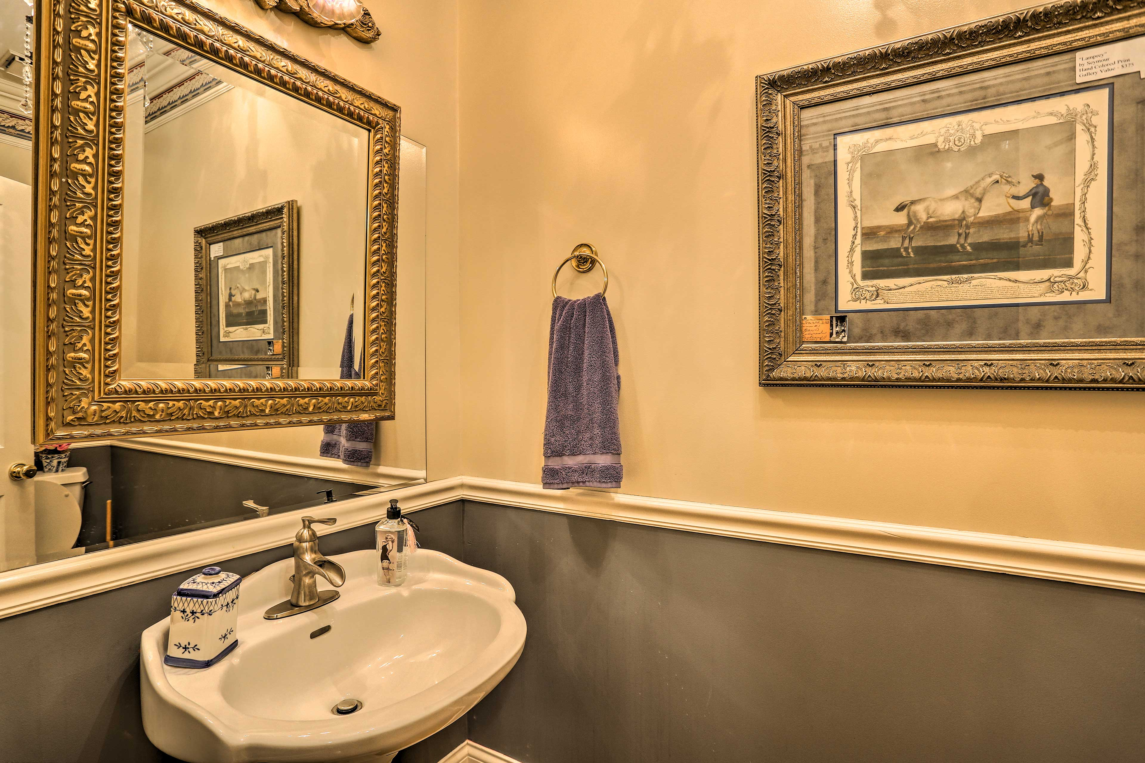 Wash up before dinner in this half bath!