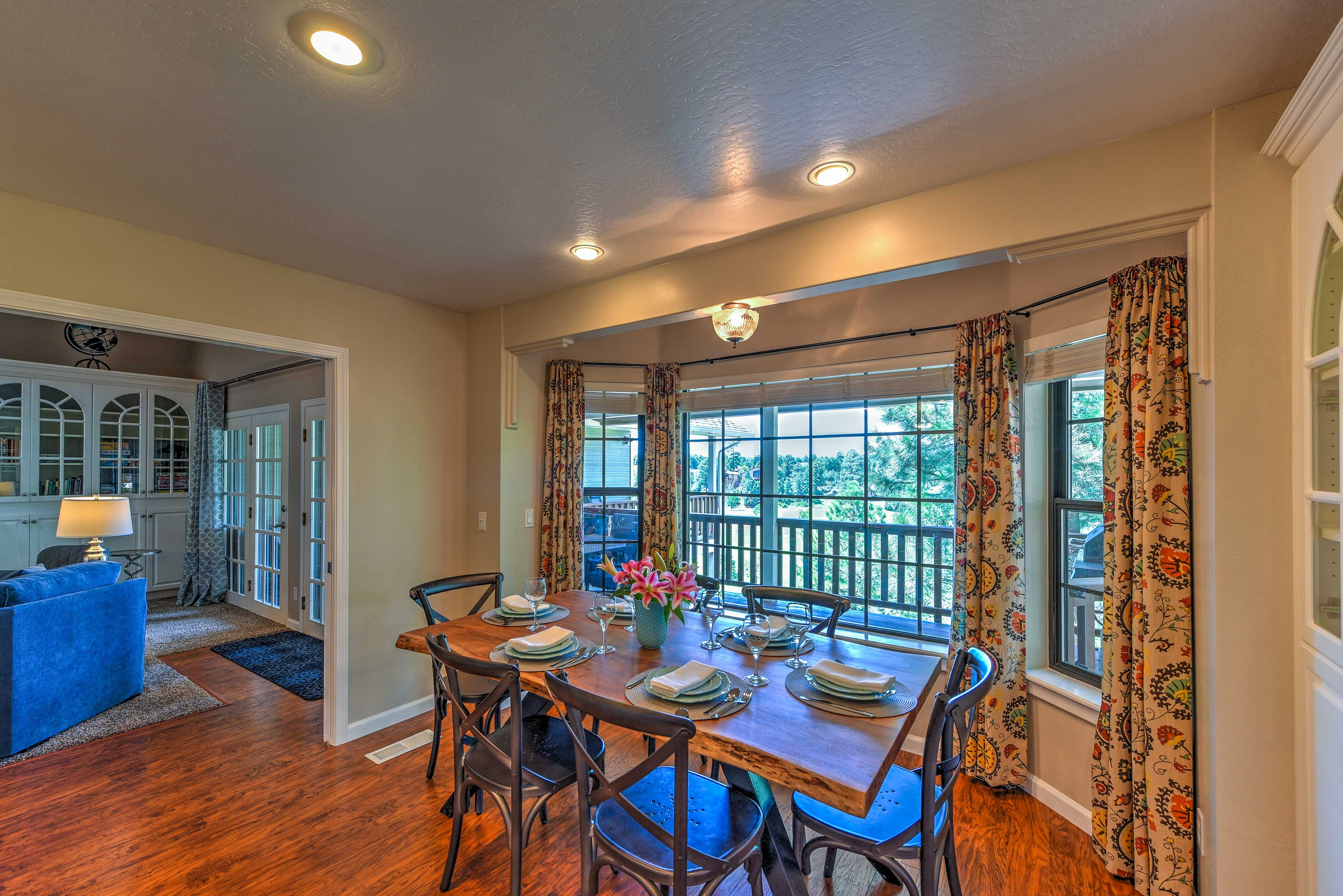 Dine with a view at this table!