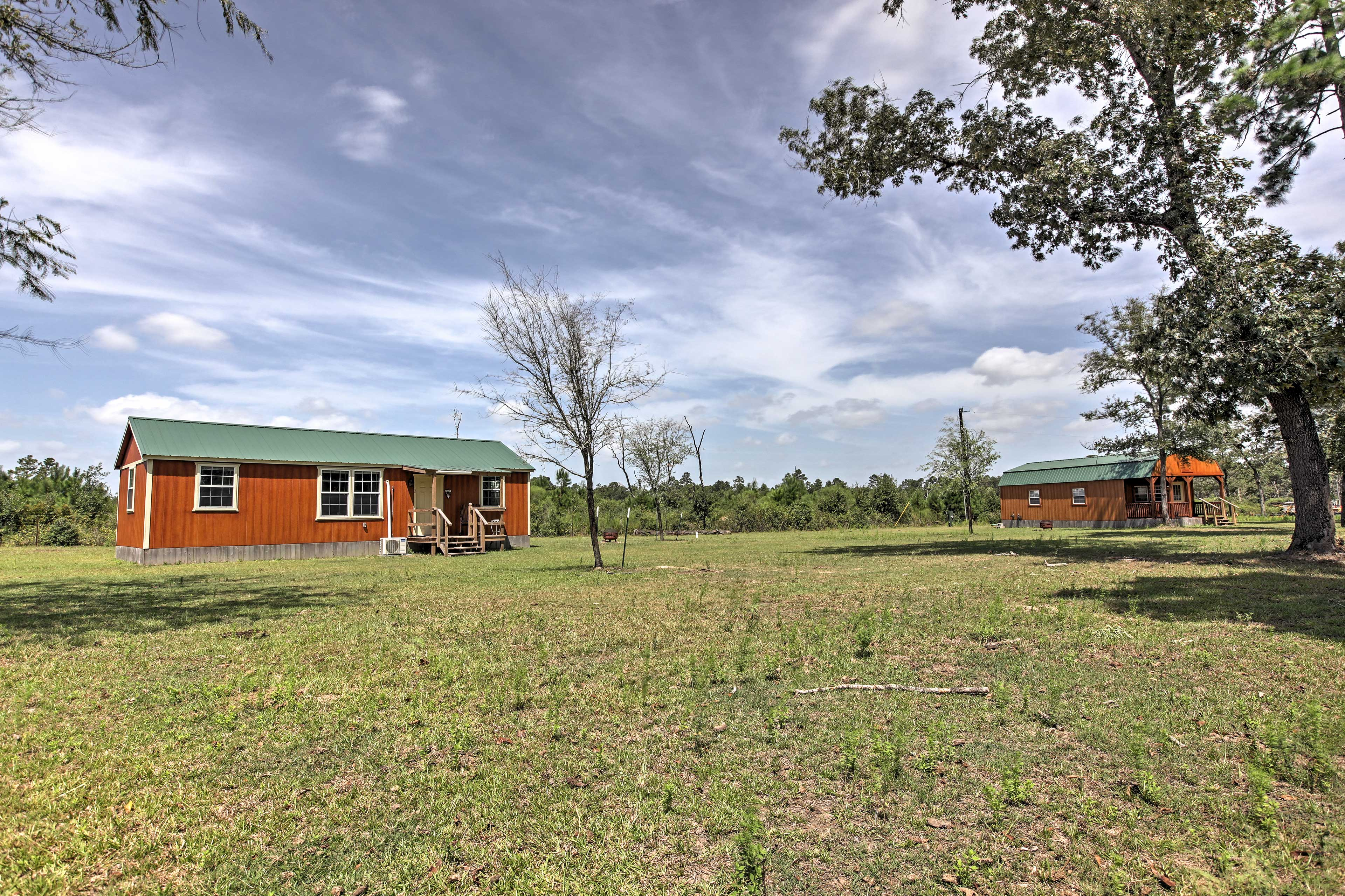 You'll find tons of privacy while staying in this charming Texas cabin.