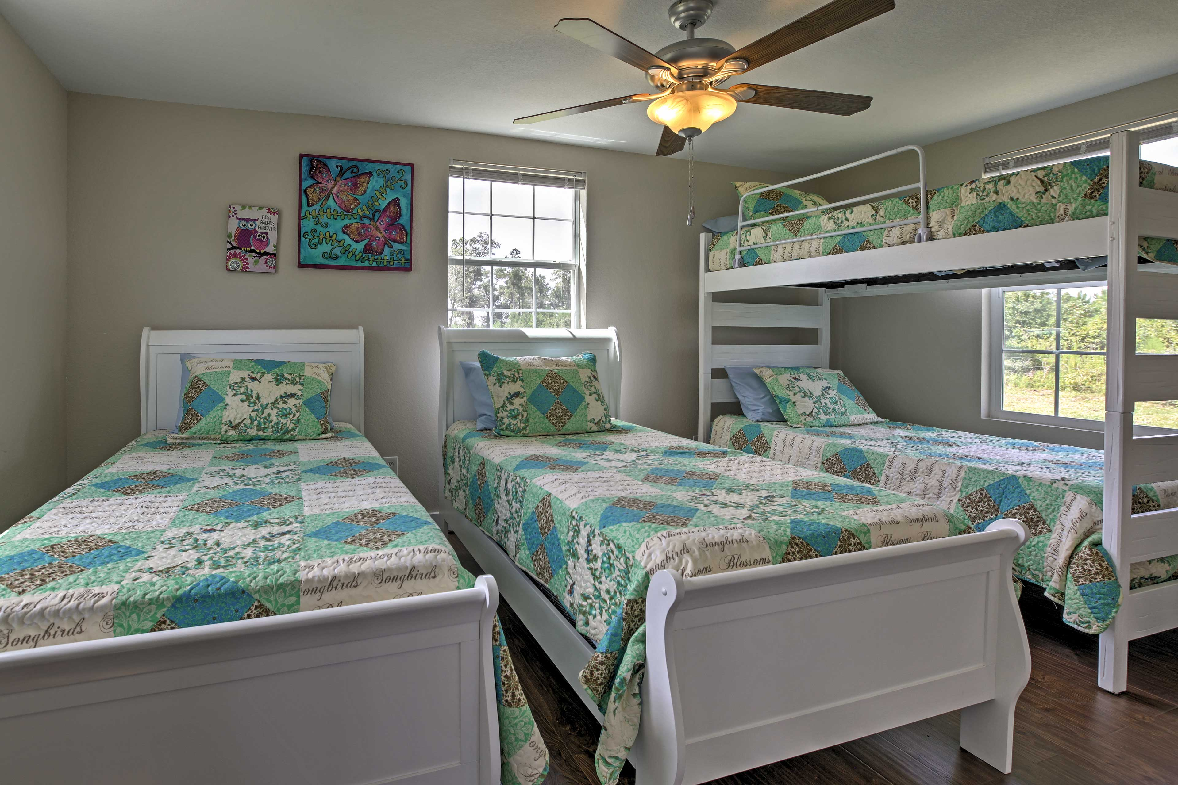When you're ready to call it a night,  choose between the home's 2 bedrooms.