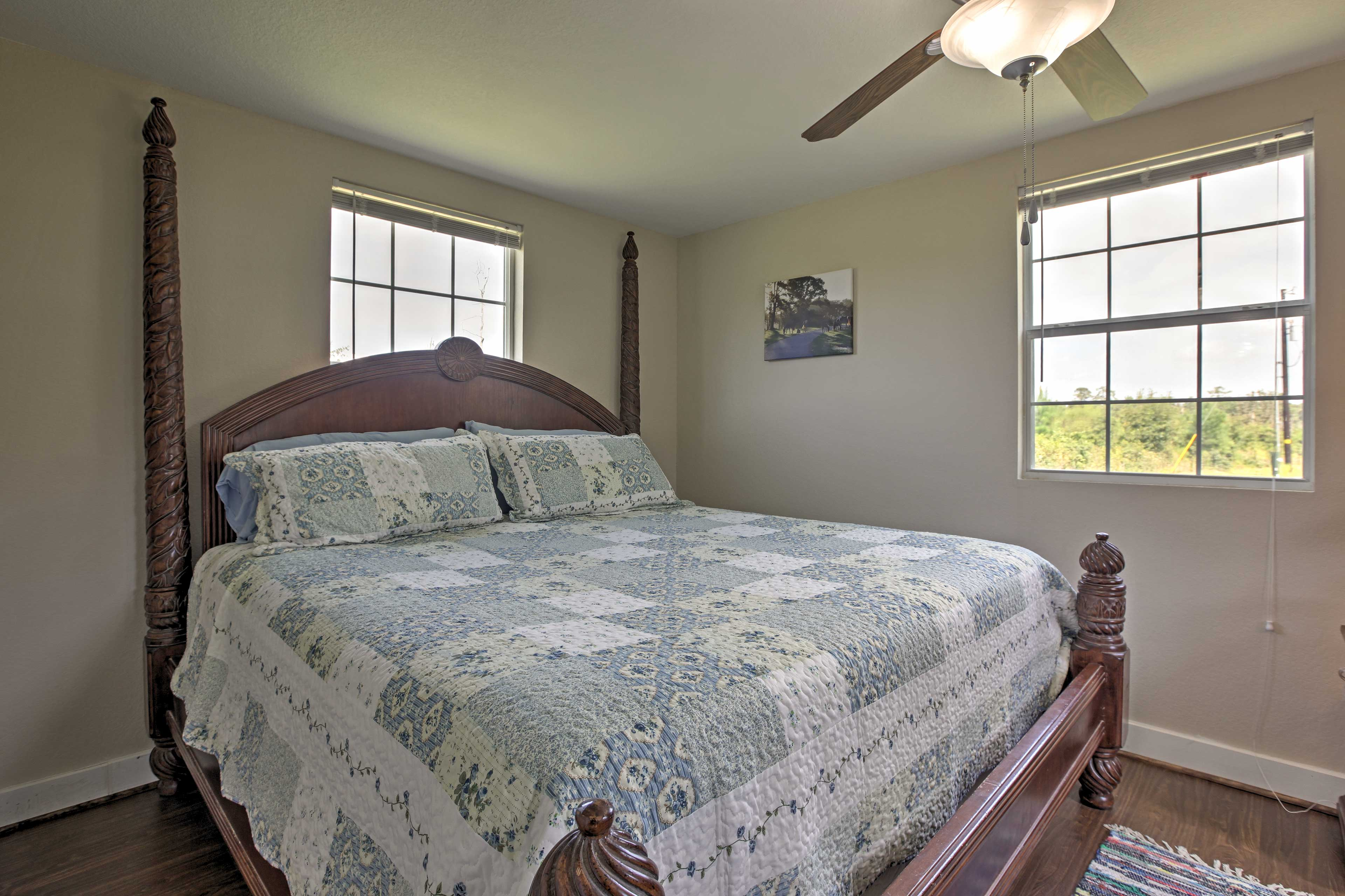 Wake up naturally as the morning light pours inside the bedroom.