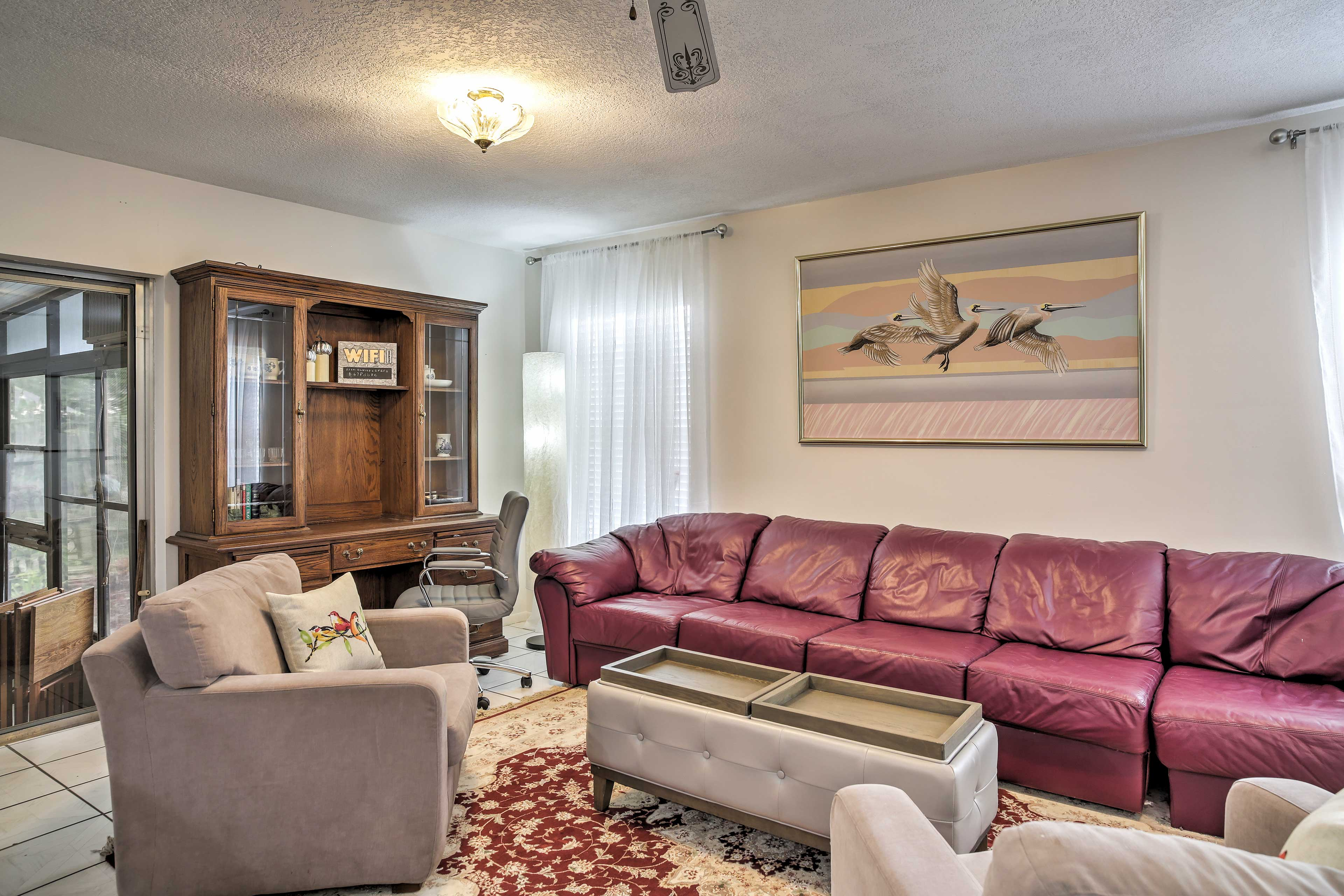 Step into the well-appointed living space and make yourself at home.