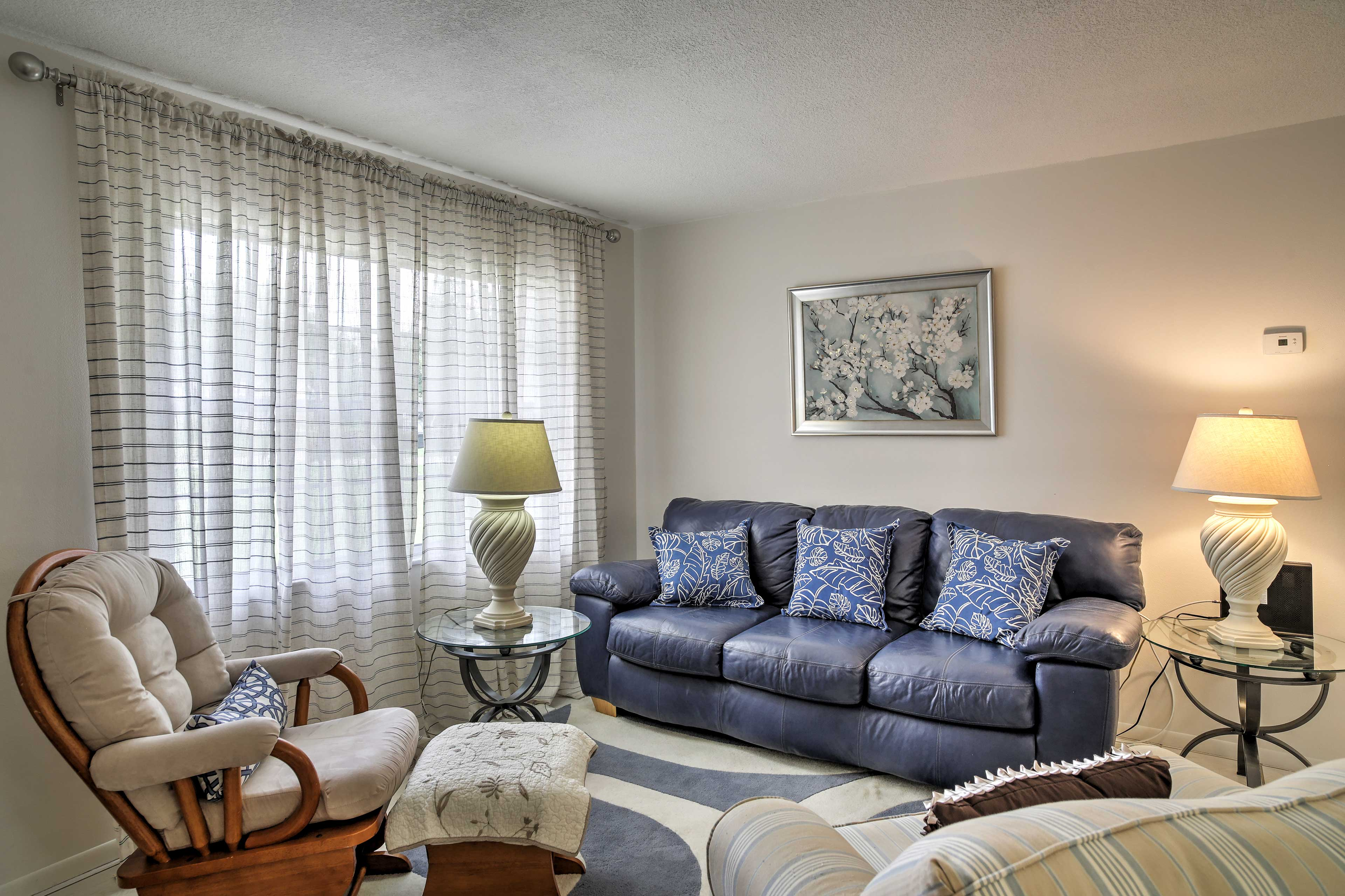 The tastefully decorated living space provides everything you'll need.