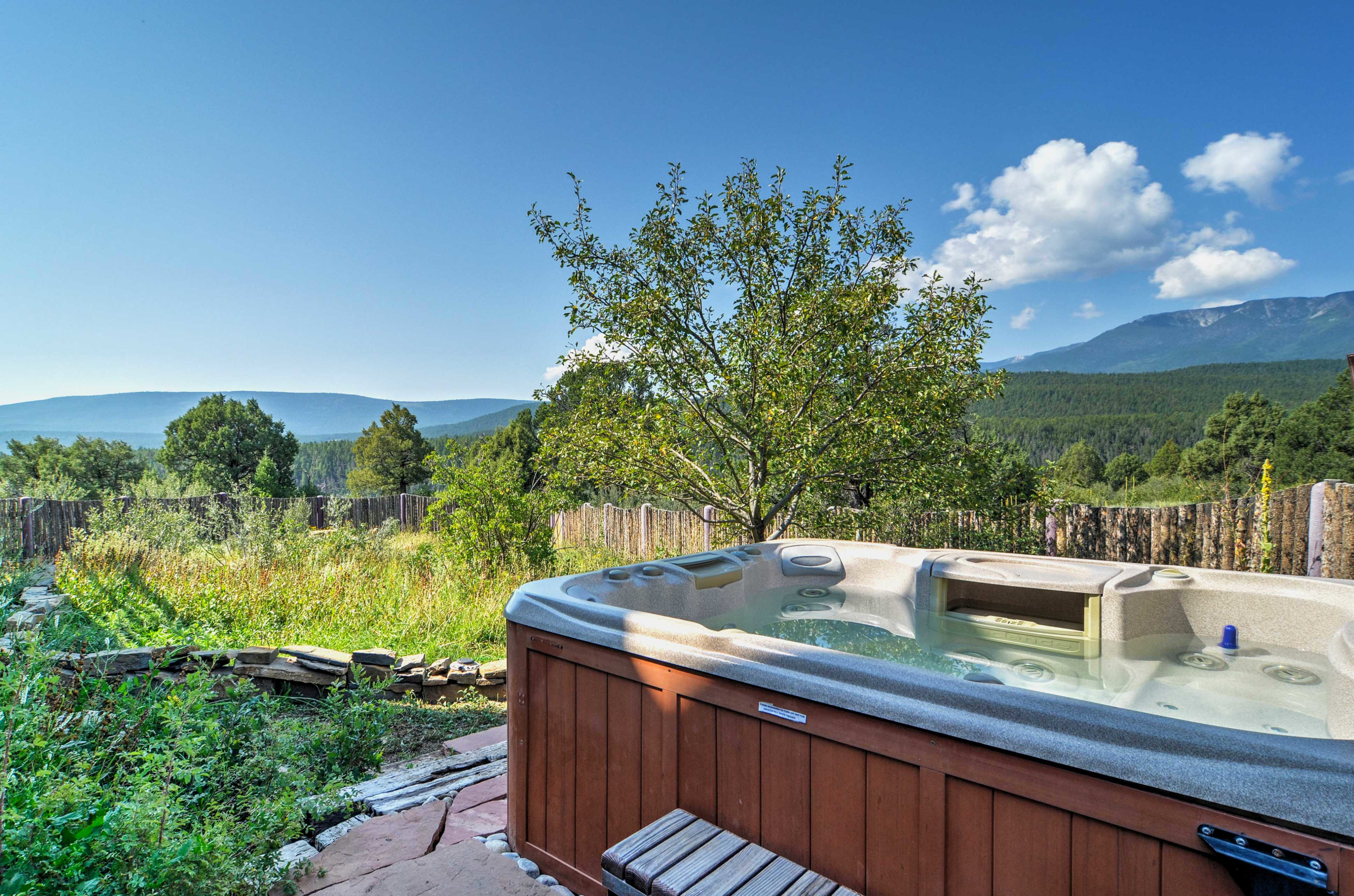 'Hawk Hill Retreat House' boasts 3,500 square feet, 4 bedrooms, and 3 bathrooms.