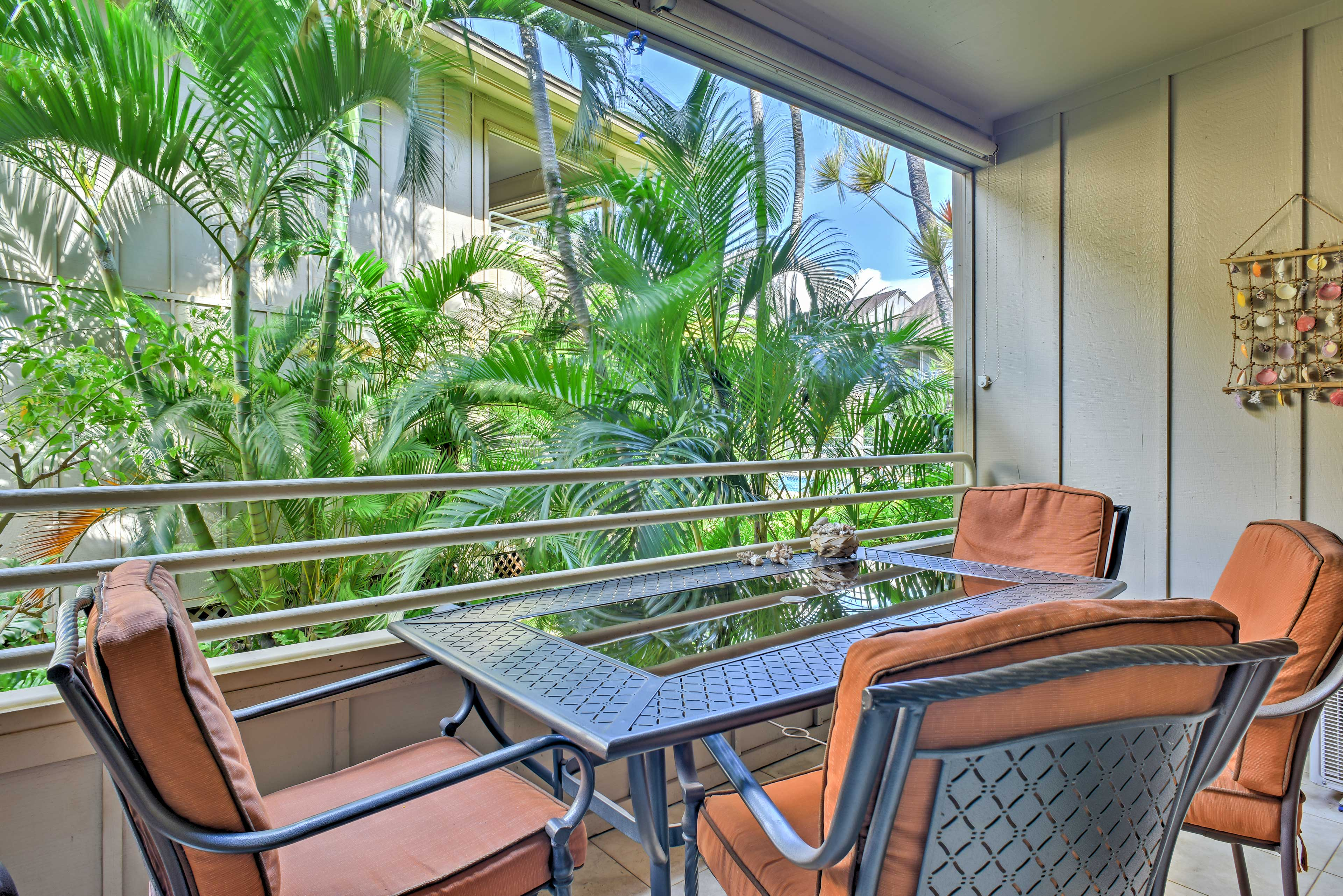 Enjoy fresh the fresh Hawaiin breeze from your private balcony.
