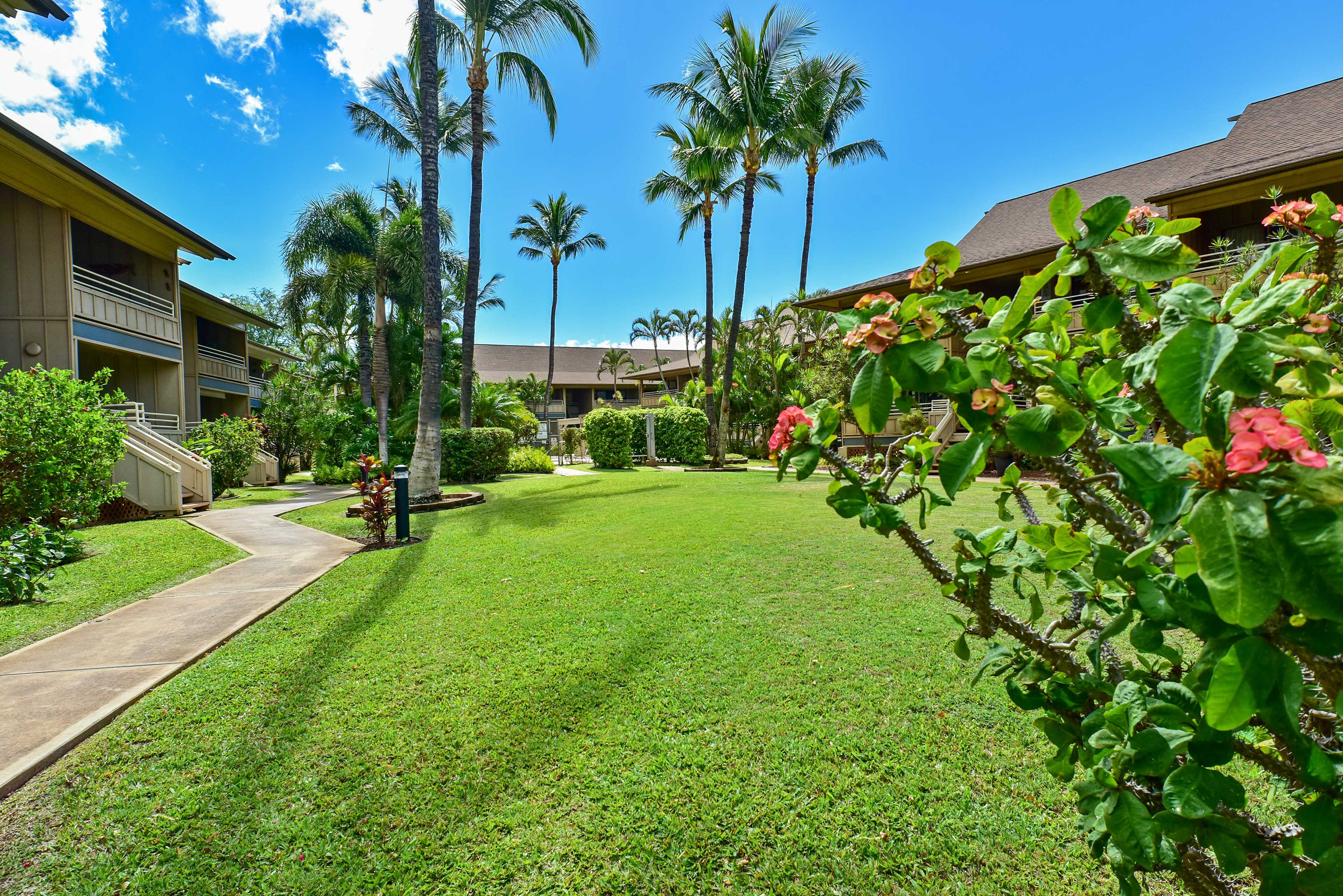 Enjoy the meticulously manicured grounds during your stay.
