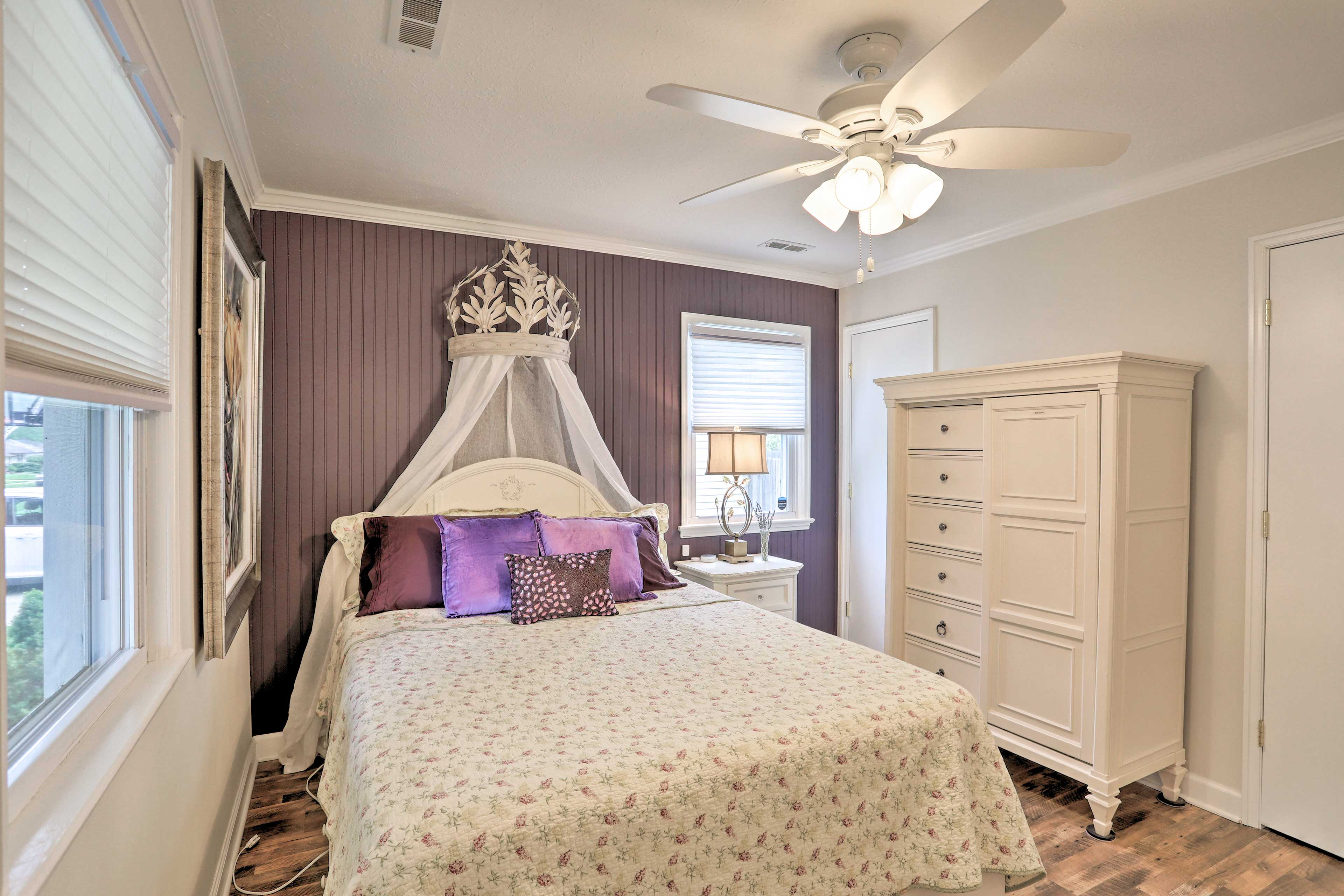 Each bedroom has a Tuft & Needle queen-sized bed and comfy quilts.