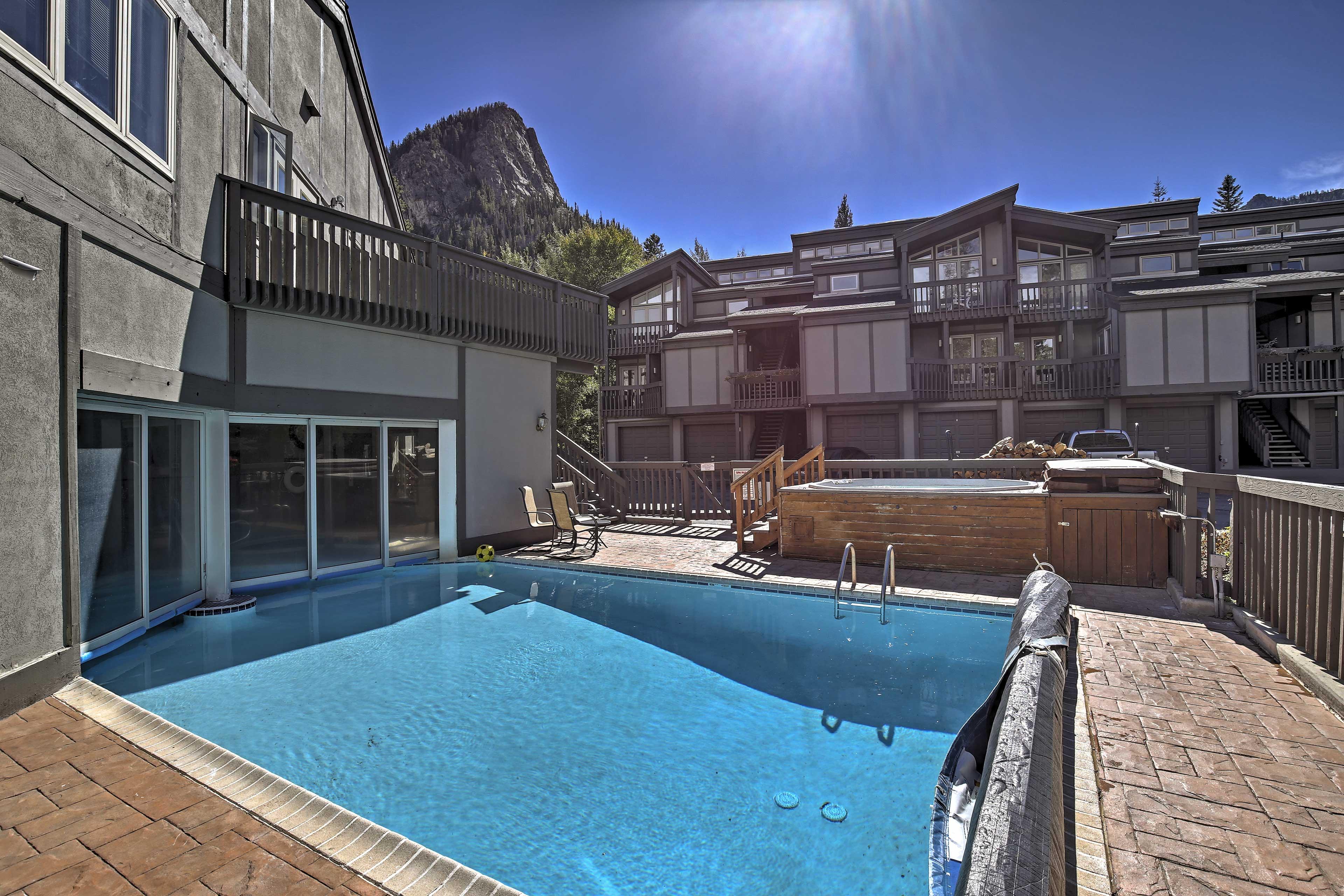 Take a dip in the pool or hot tub!