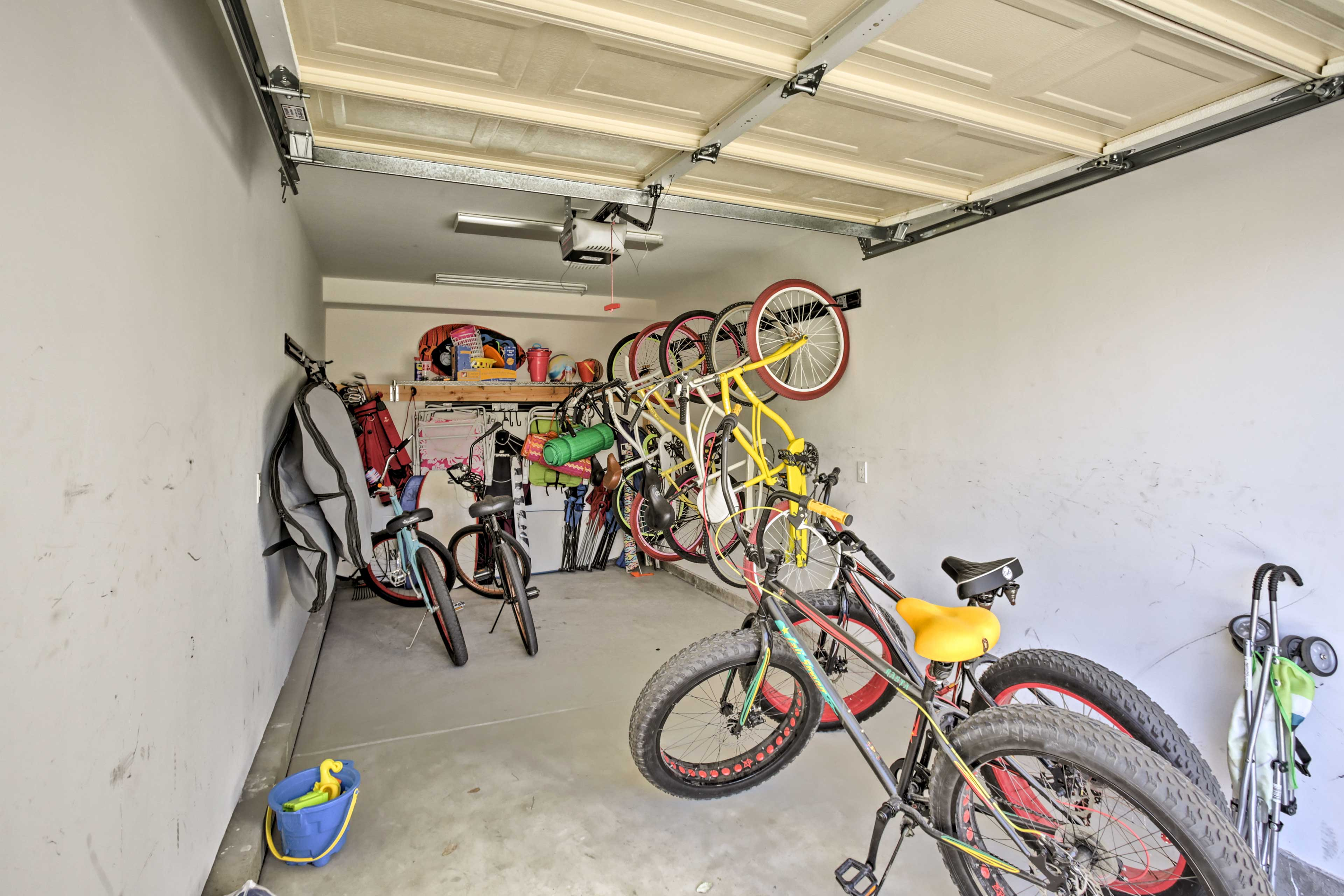 Use the provided wakeboards, paddleboards, sand toys, bikes, and skateboards!