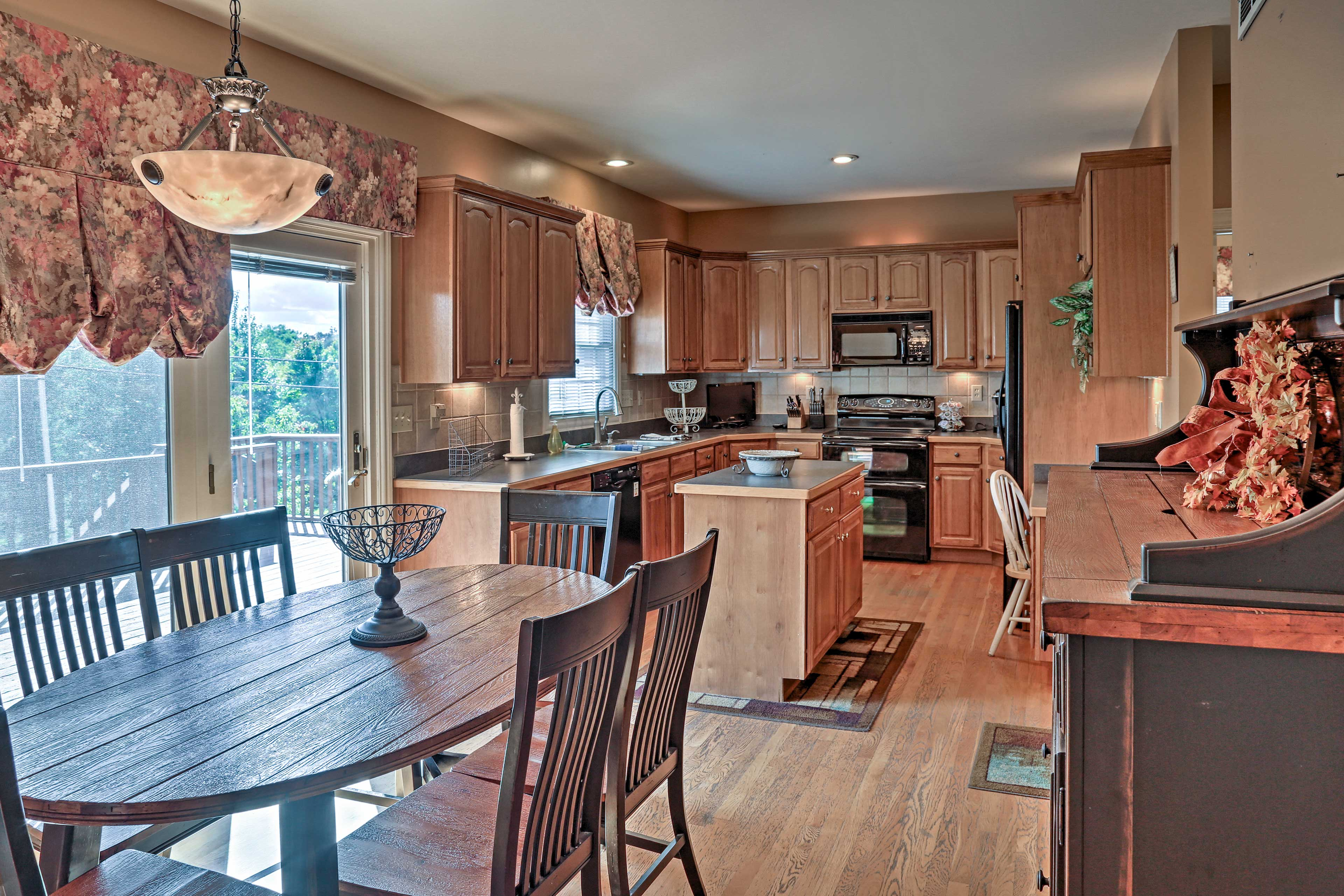 Have a seat at the kitchen table as you await a home-cooked meal.