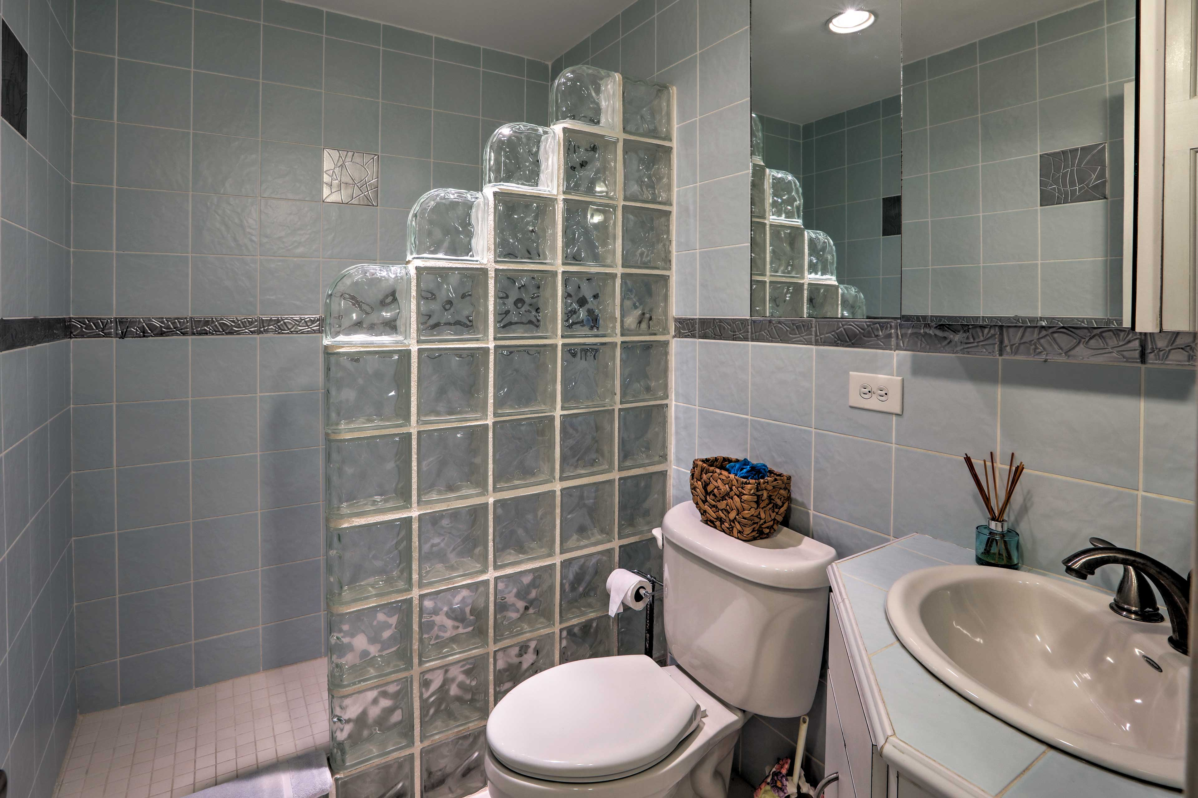There's another walk-in shower in the second full bathroom.