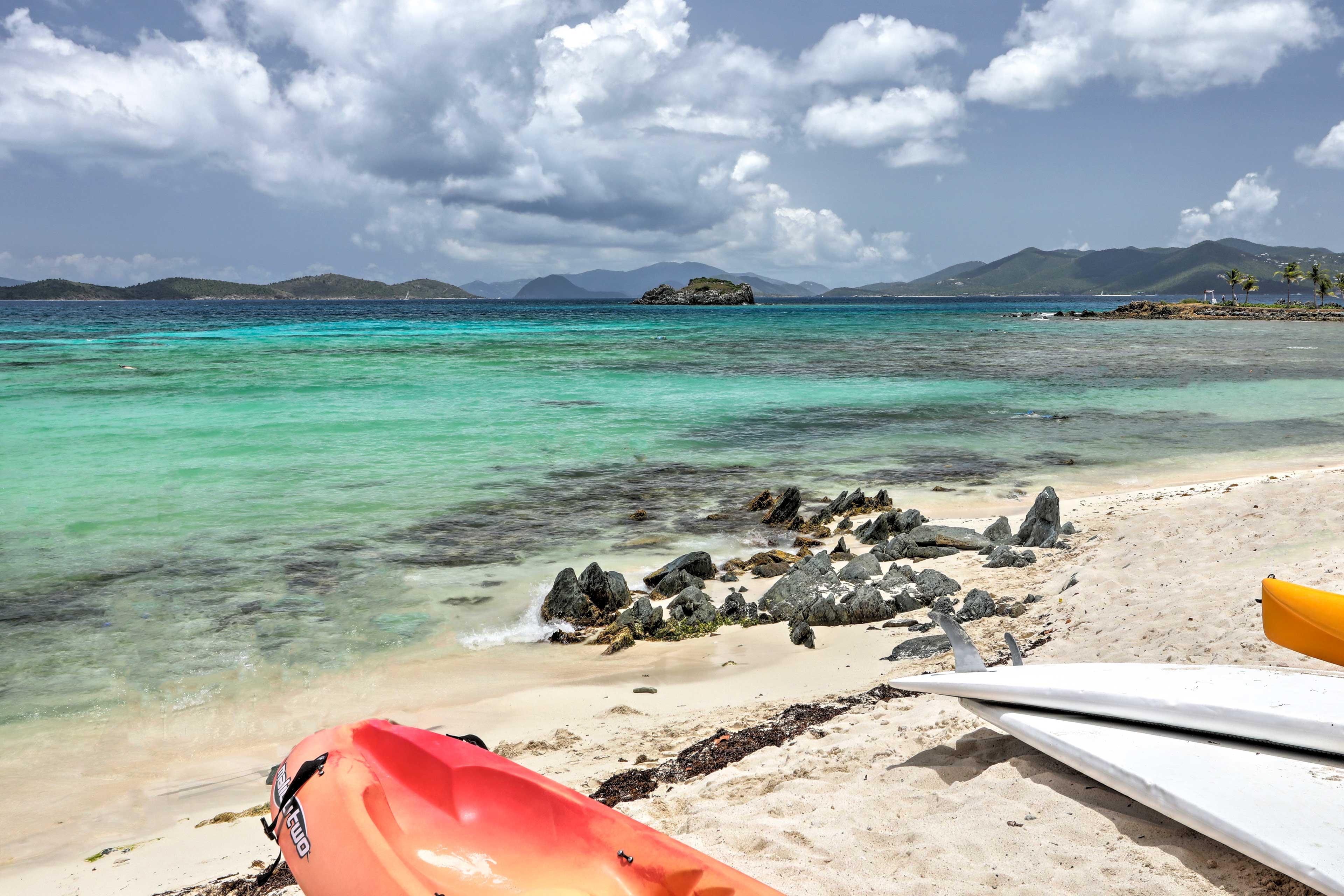Snorkel, parasail, swim, or kayak for incredible St. Thomas memories!