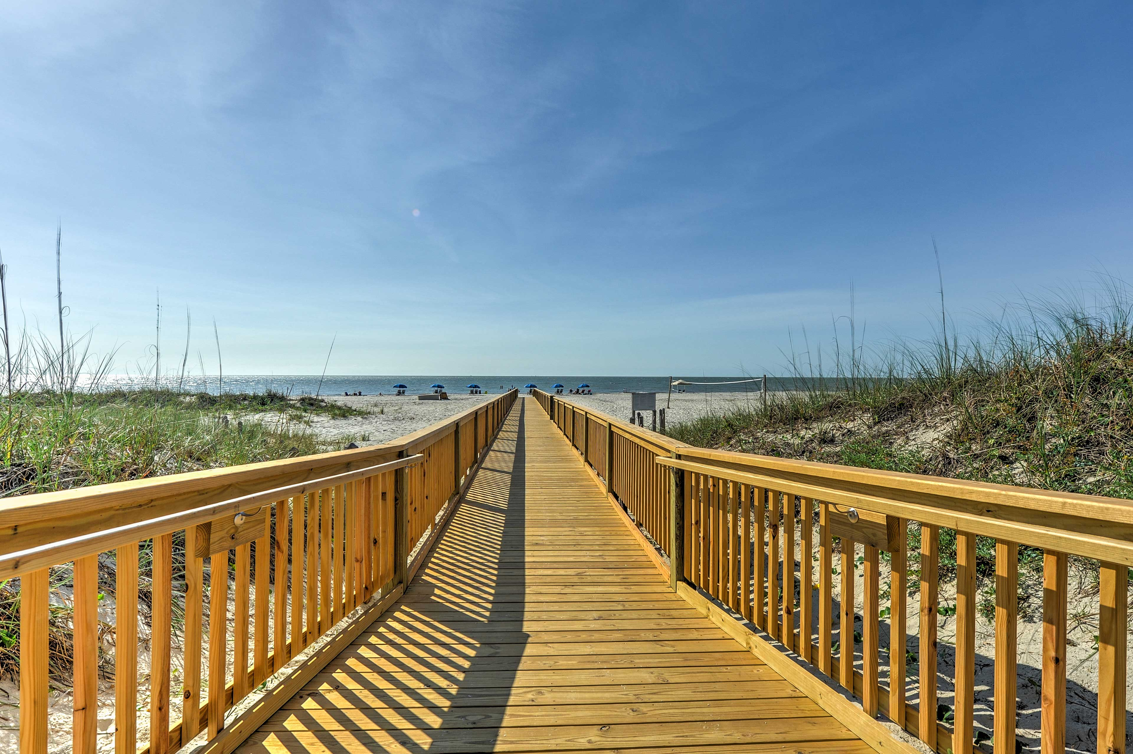 Enjoy an ideal retreat during any season just steps from the beach and more!
