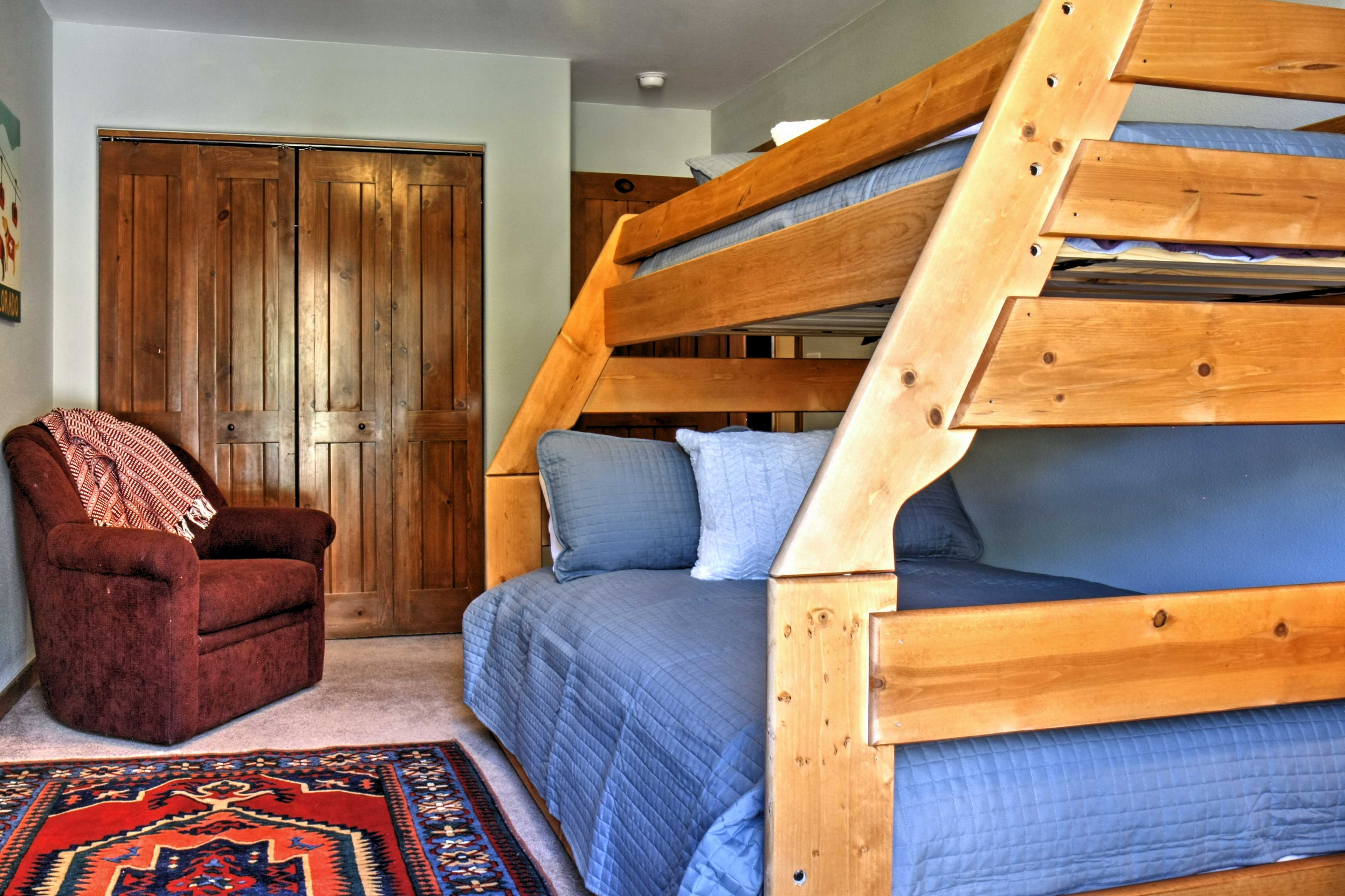 The third bedroom is perfect for friends or siblings!