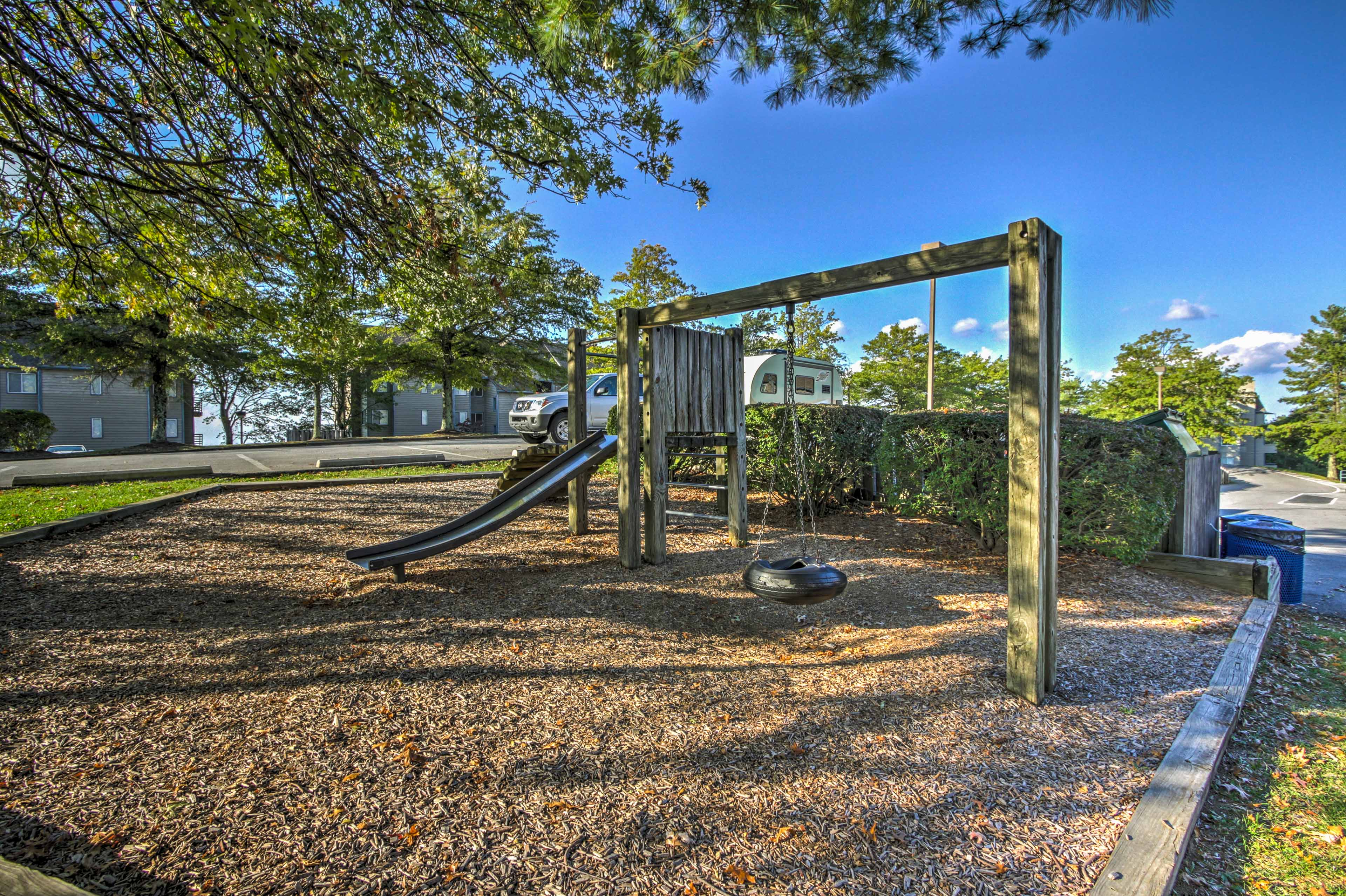 Let the kids run out their energy on the playground.
