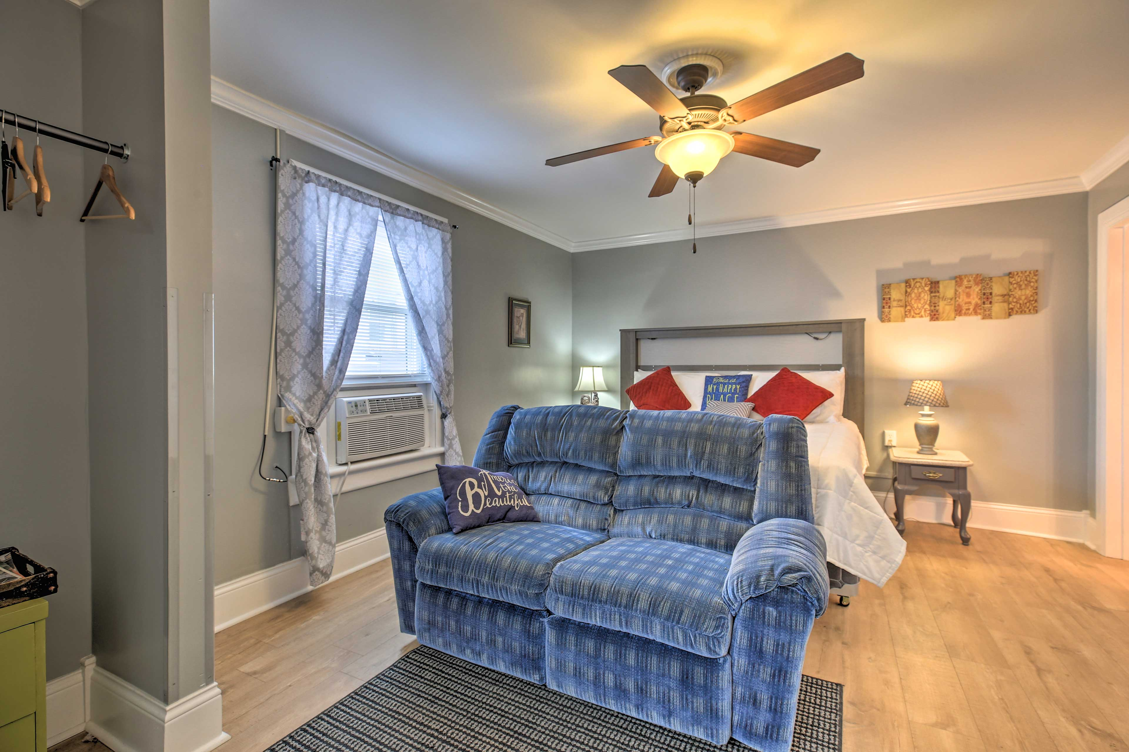 Ceiling fans are sure to keep you cool on warm nights!