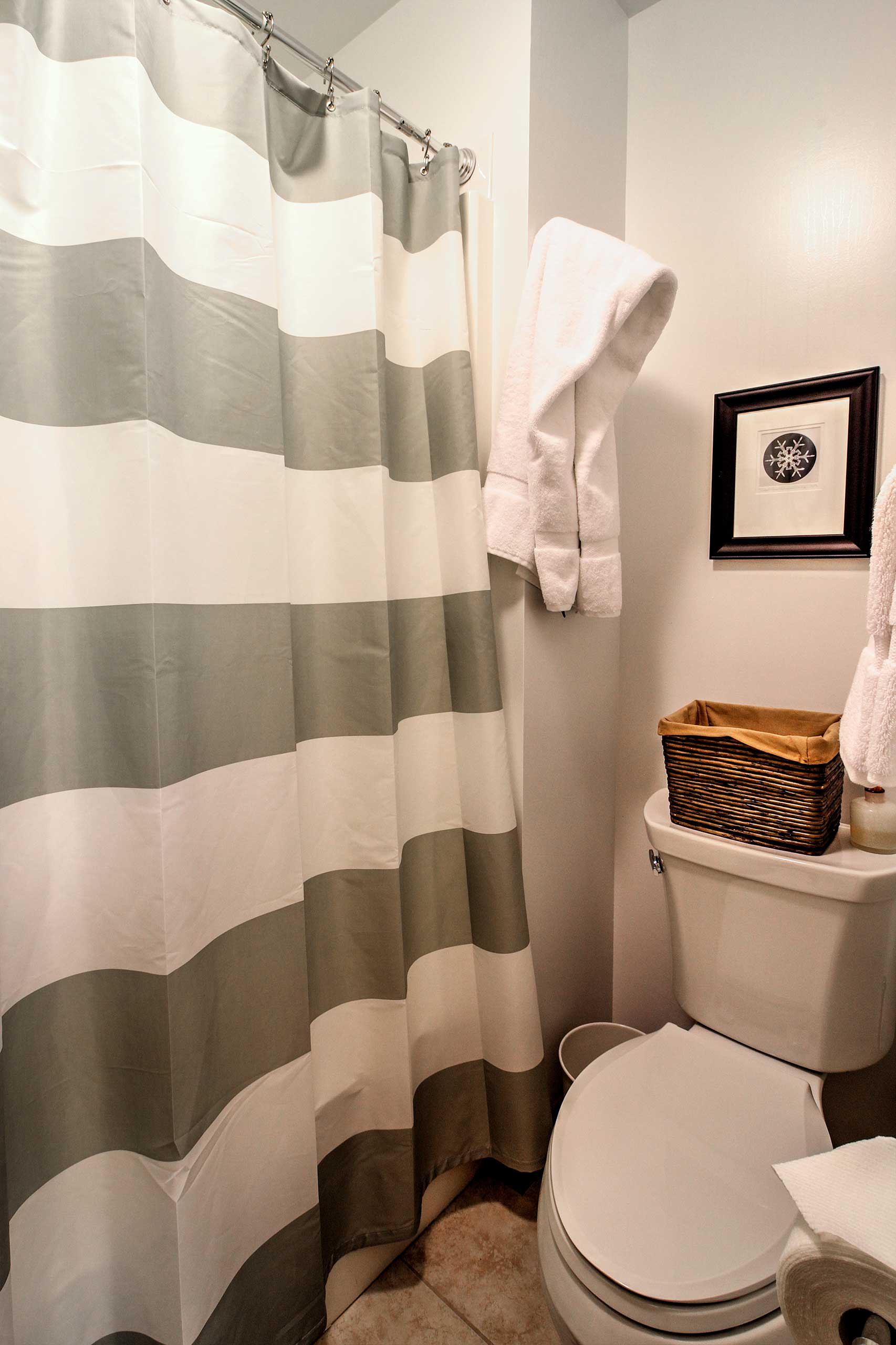 Get ready for the day in the en-suite bathroom!