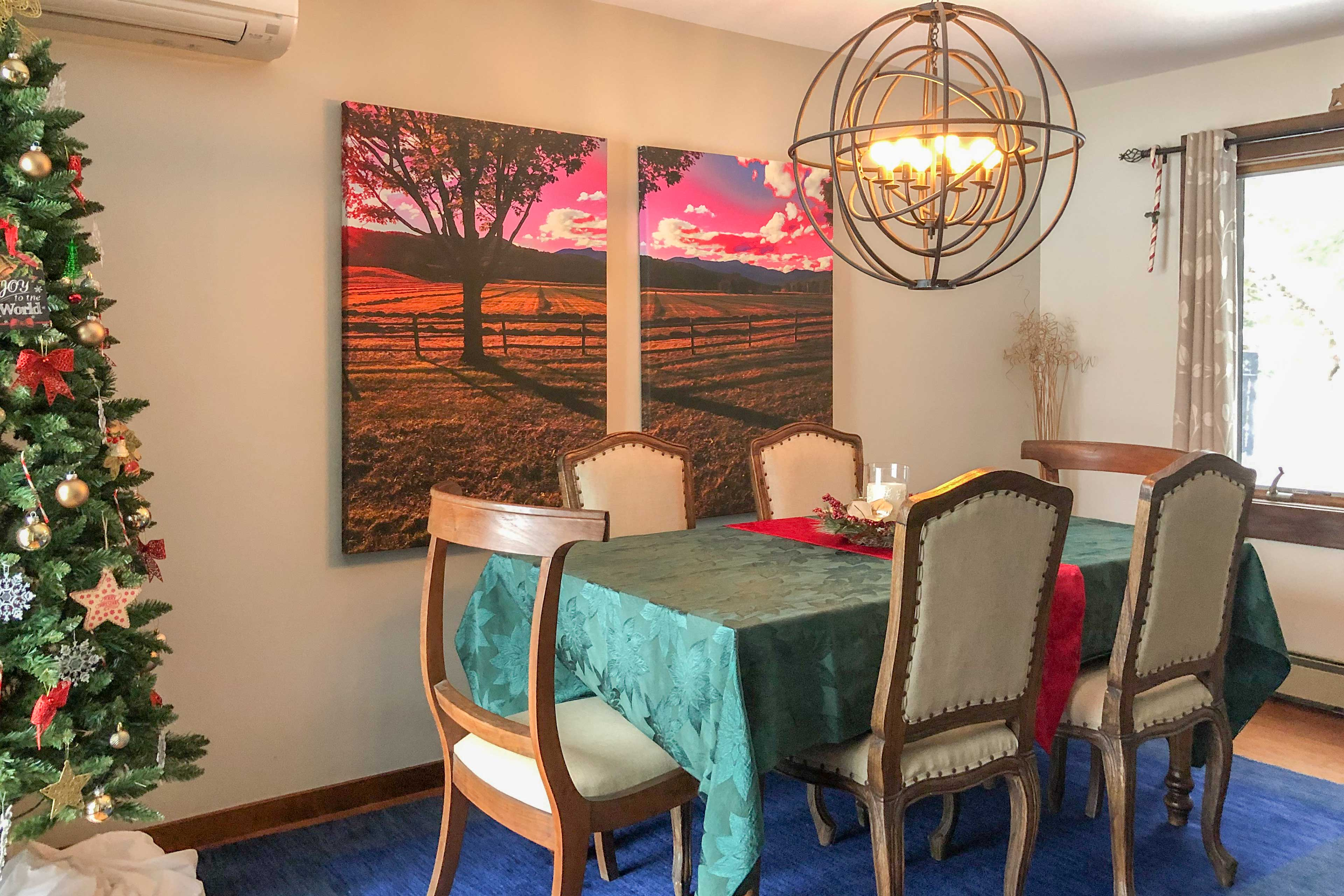 When hunger strikes, head to the kitchen and dining area.
