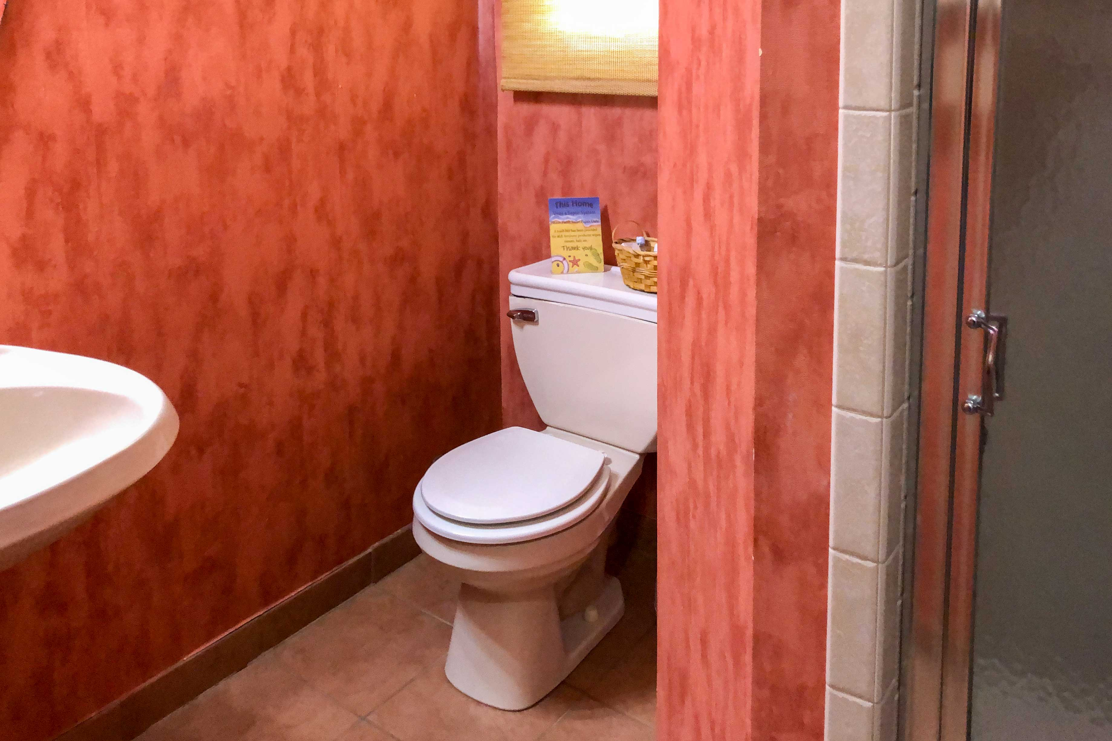 There are 6.5 bathrooms in the home.