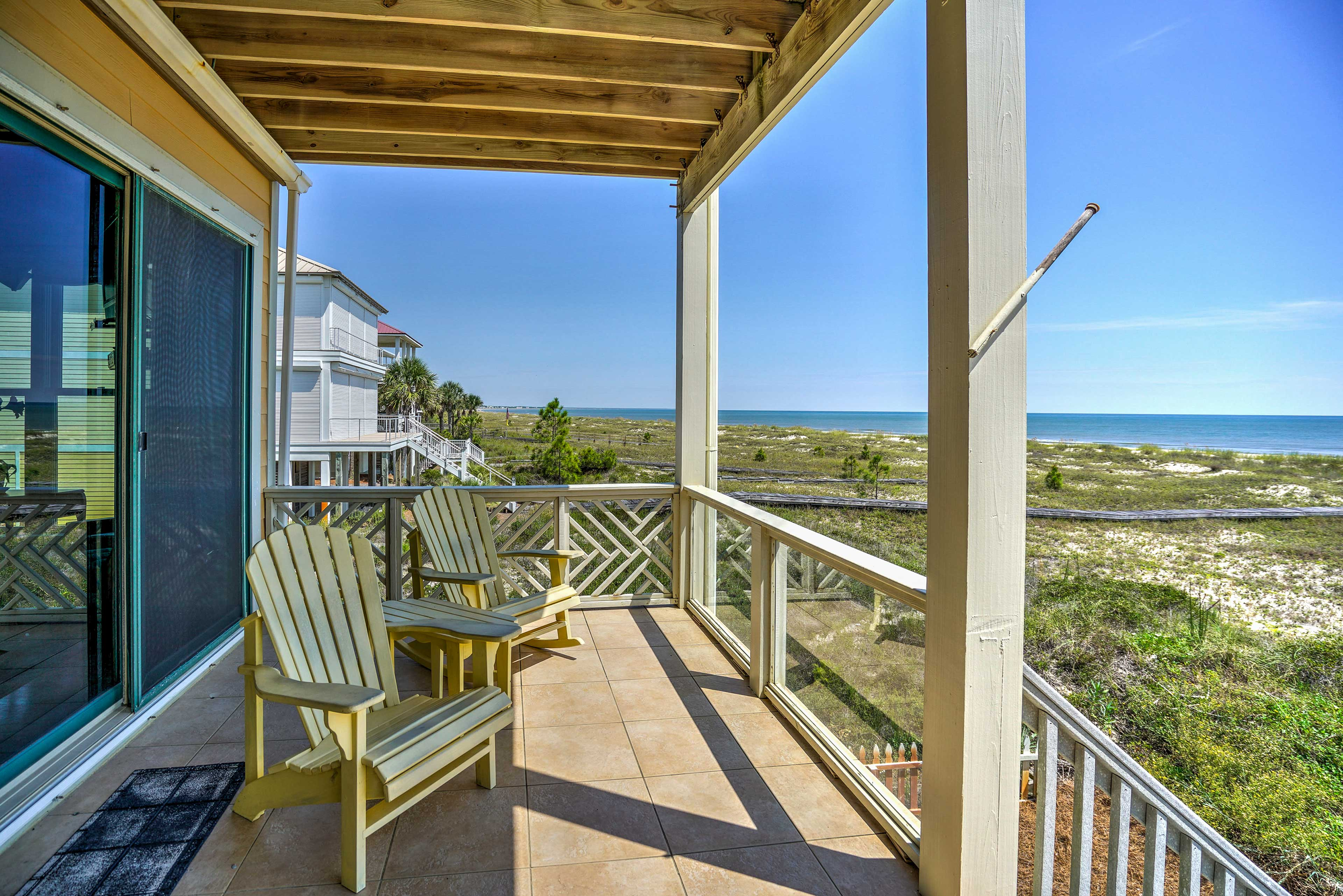 Sip your morning coffee while admiring the beach views from one of 4 balconies.