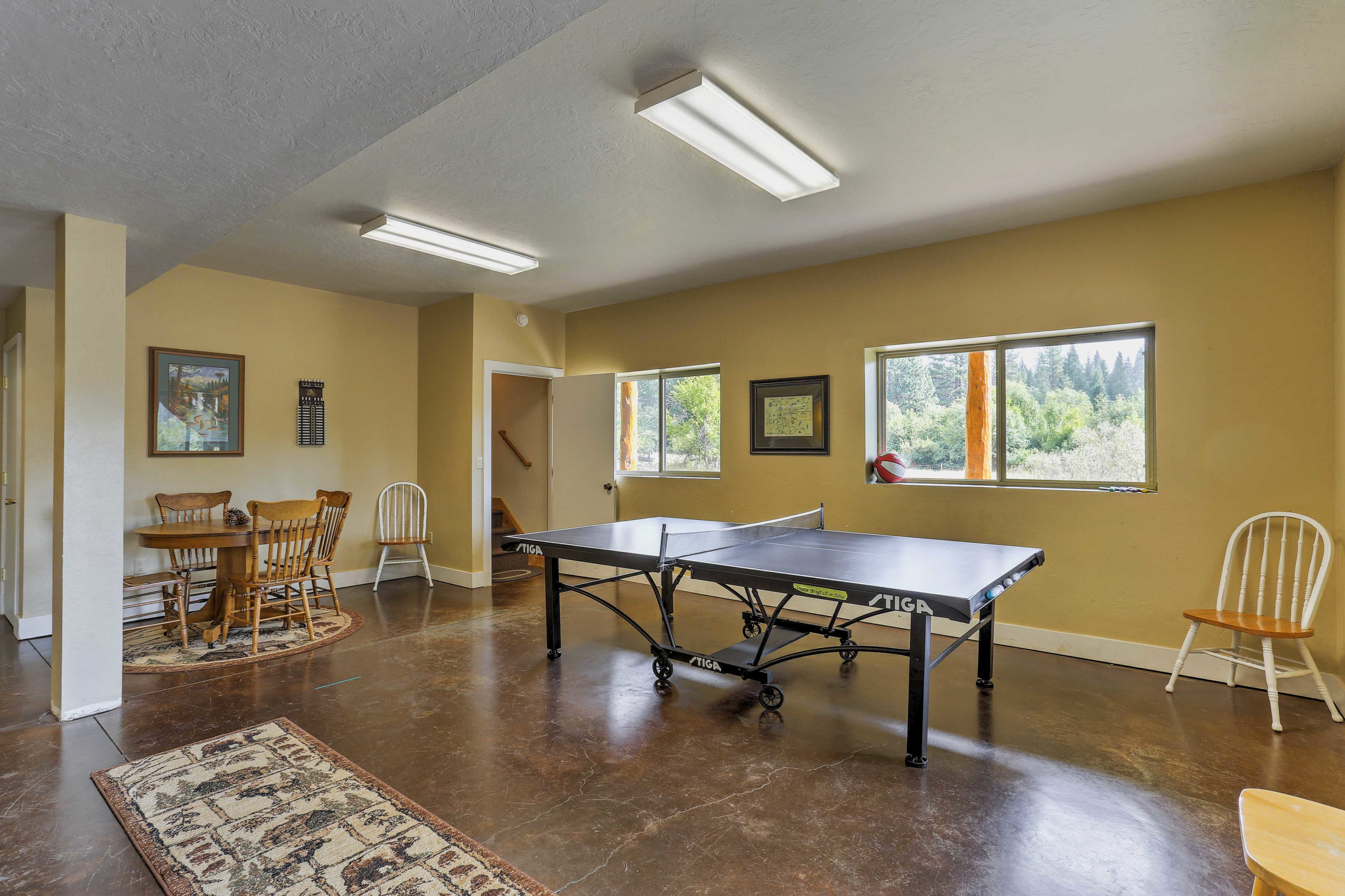 Work up a sweat at the ping pong table or sit down to a game of cards.