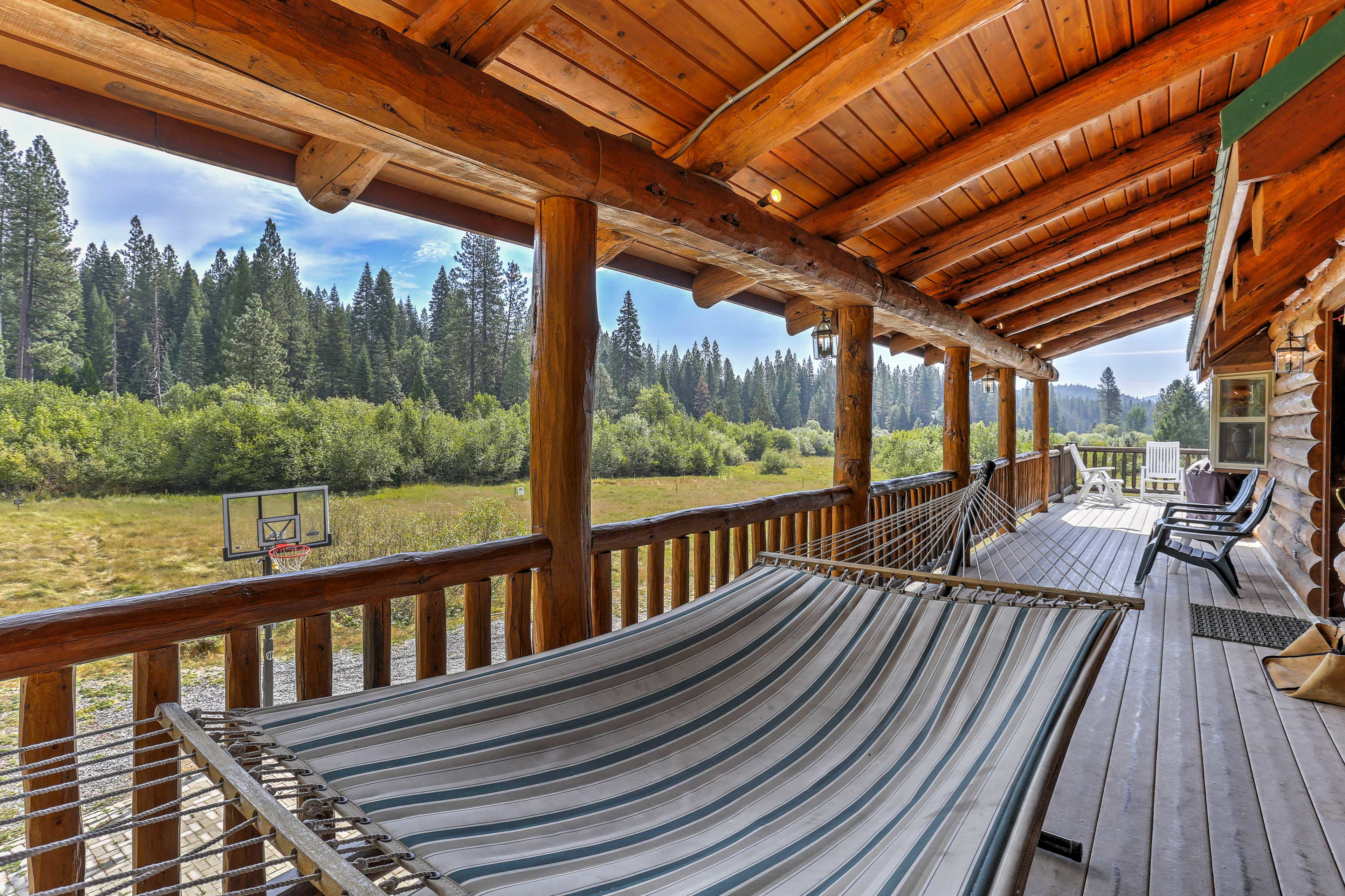 Take a nap in the hammock on the wraparound deck.