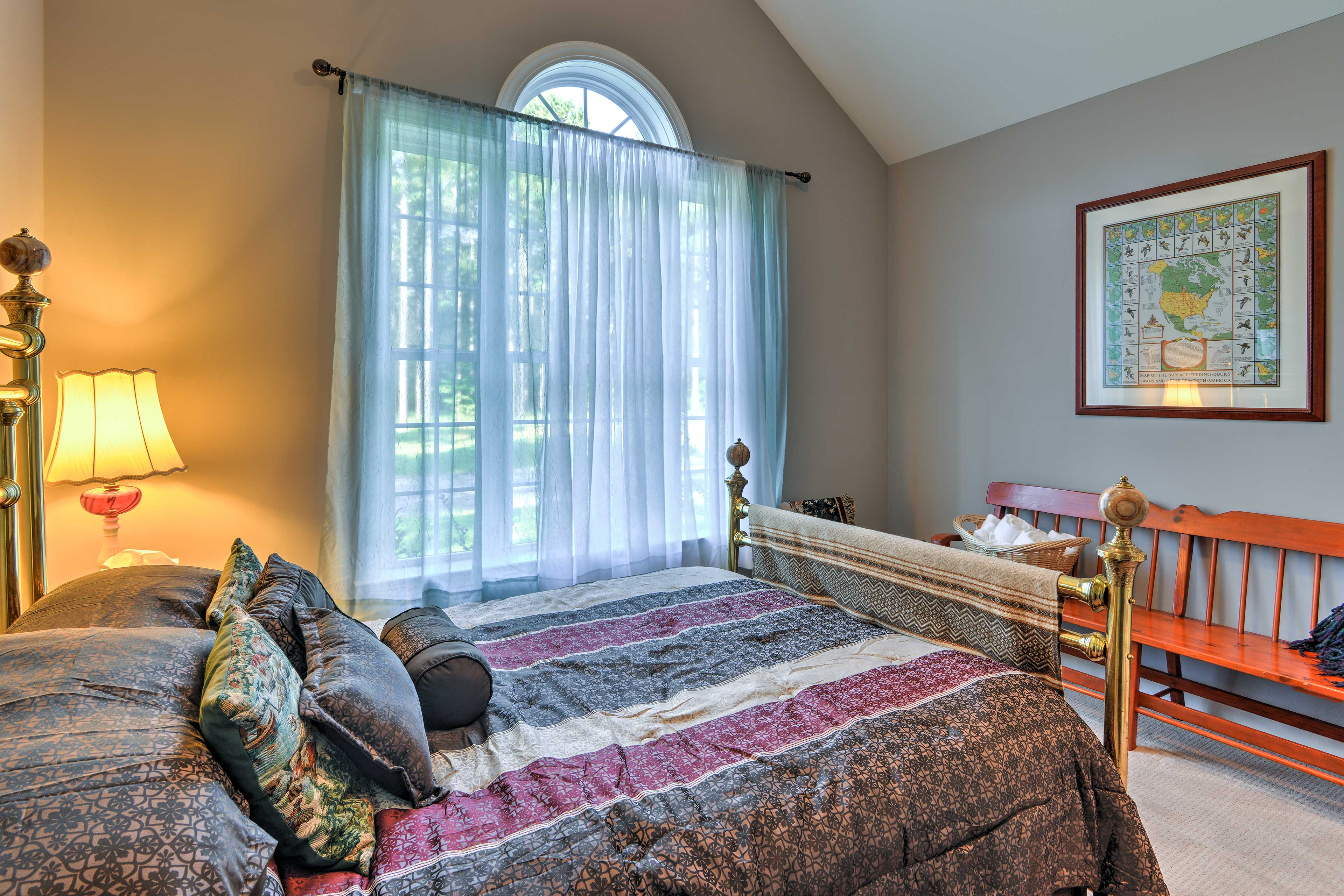 Cuddle up in this queen bed to enjoy peaceful nights of sleep.
