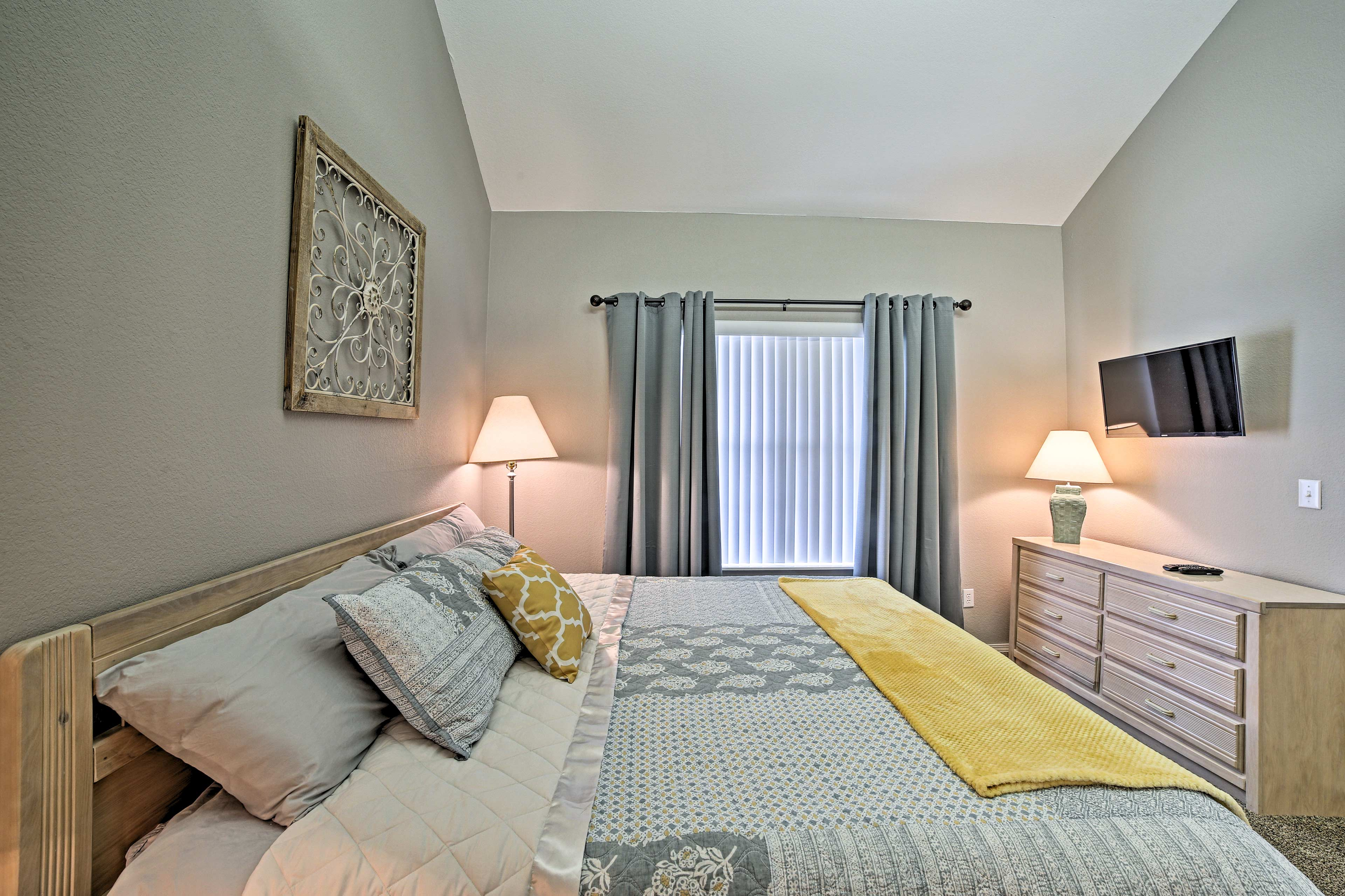 All of the bedrooms feature flat-screen Smart TVs.