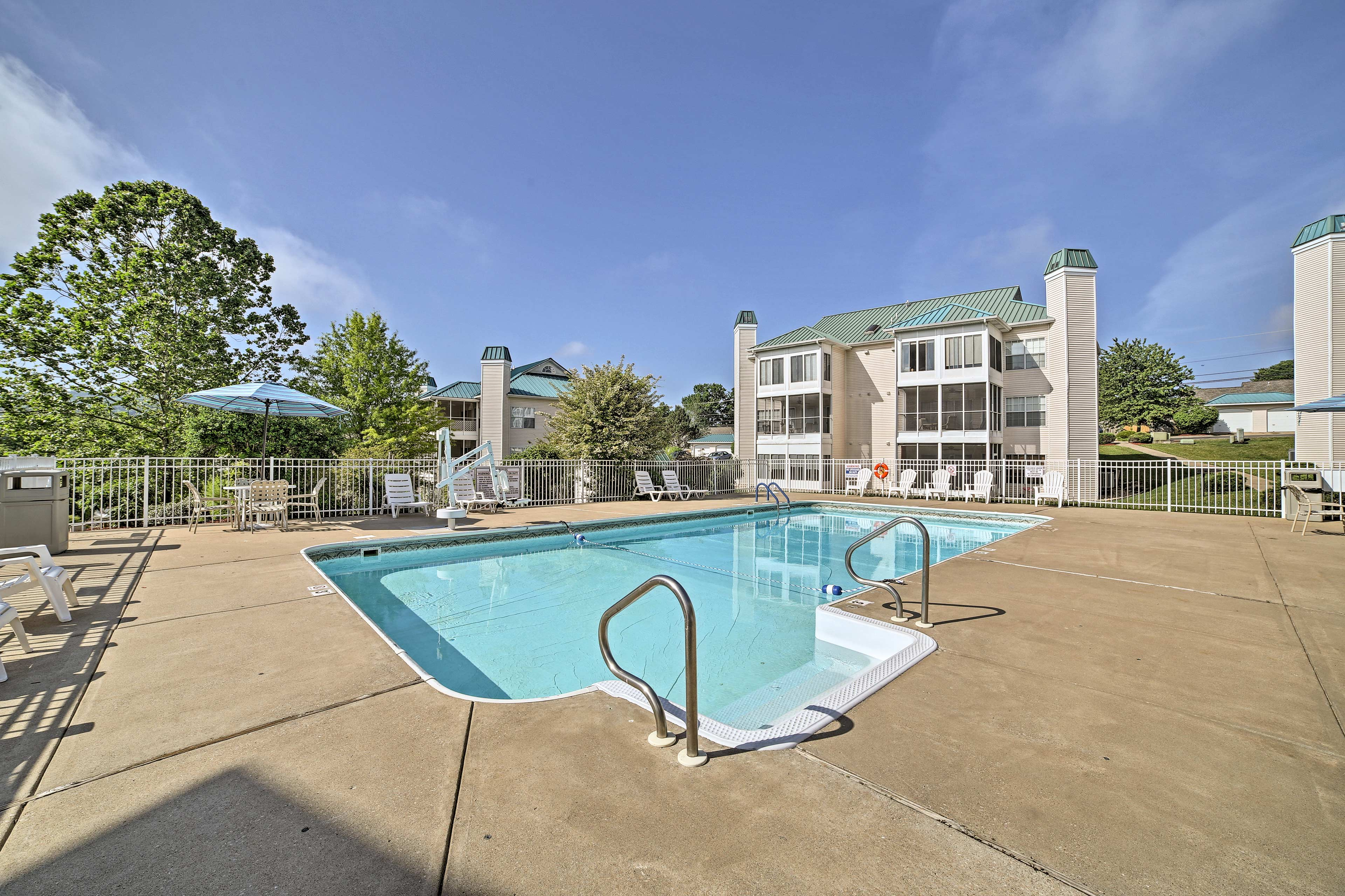 The community amenities are a short walk away.