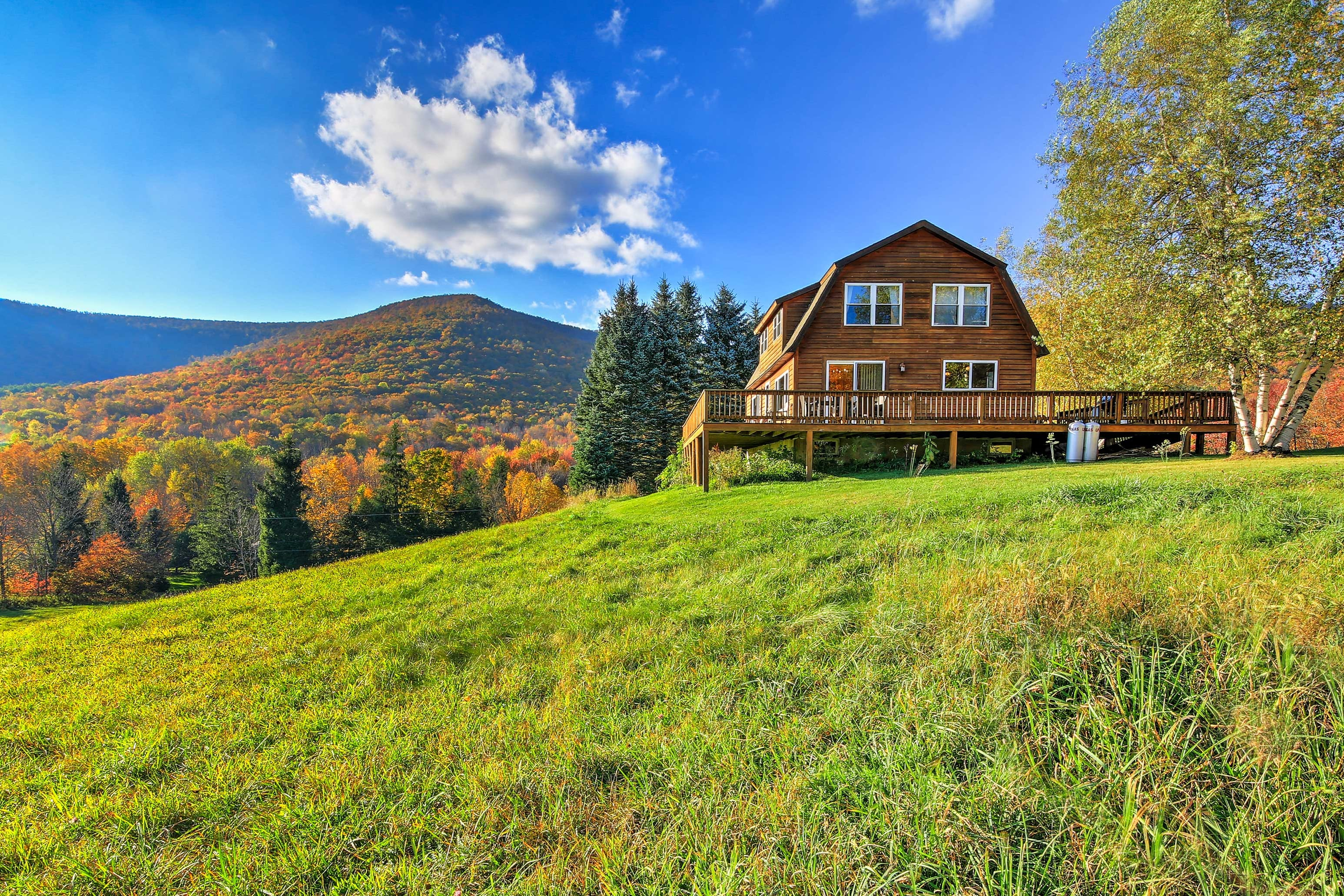 Venture out to 'Bearpen Lodge,' a vacation rental cabin in Halcott!