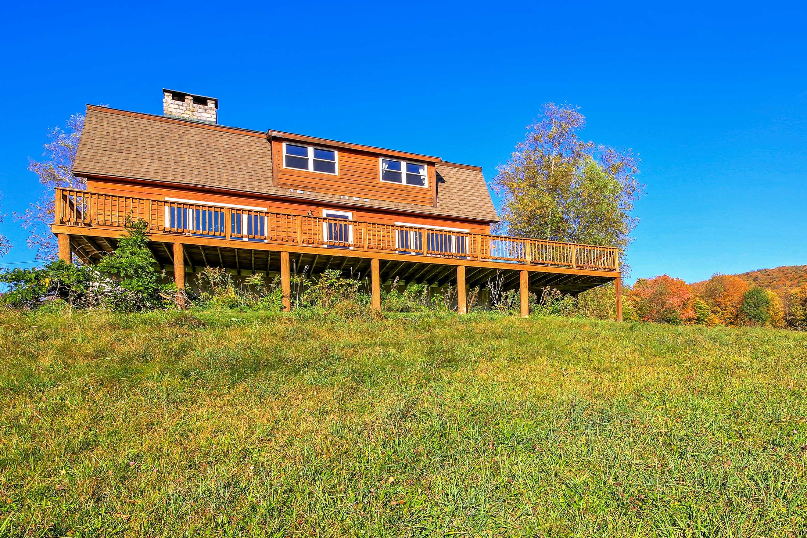 Rest easy in the New York countryside at this unforgettable Halcott hideaway!