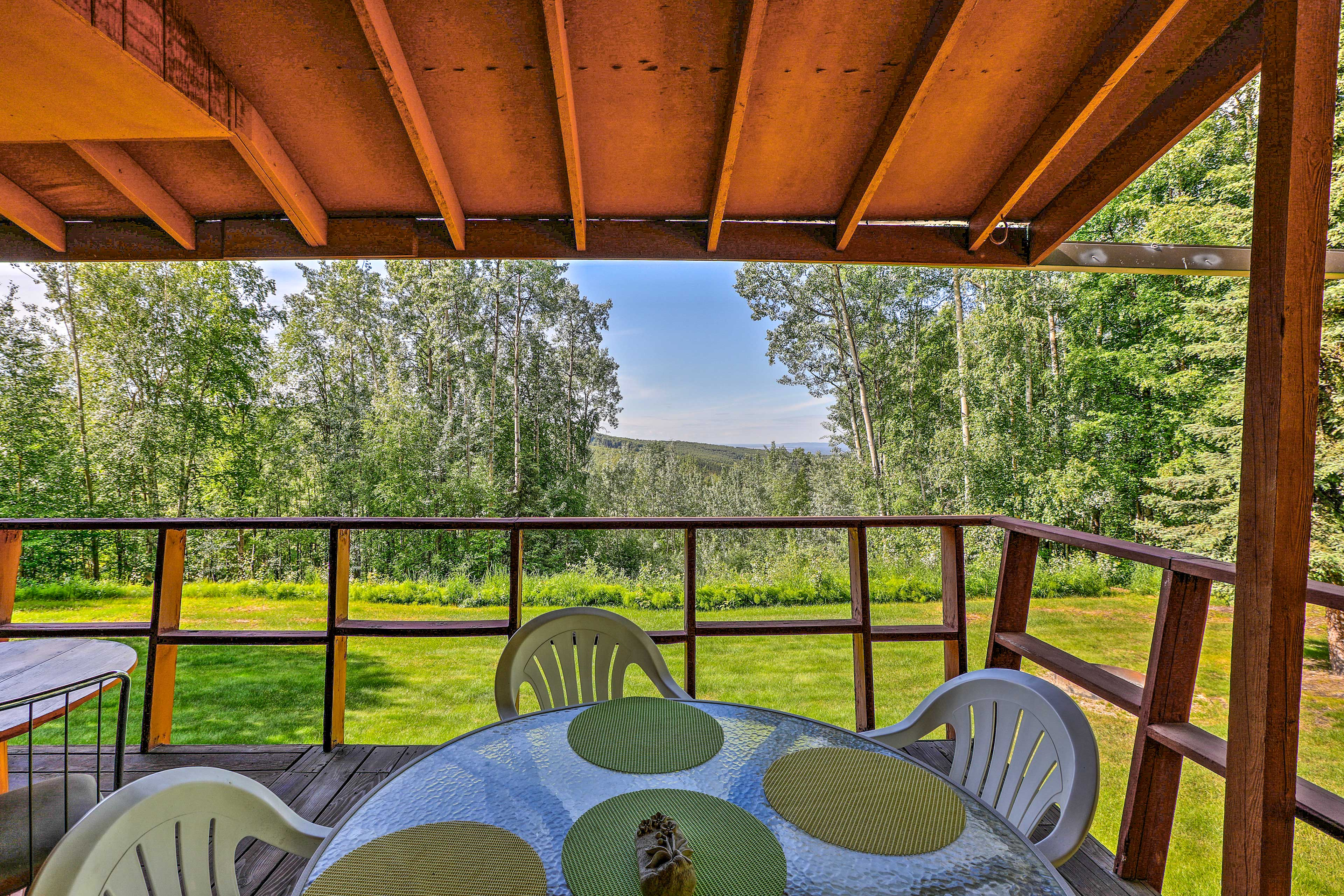 Admire the valley view from 'Lizzie's Nest,' a vacation rental studio apartment.