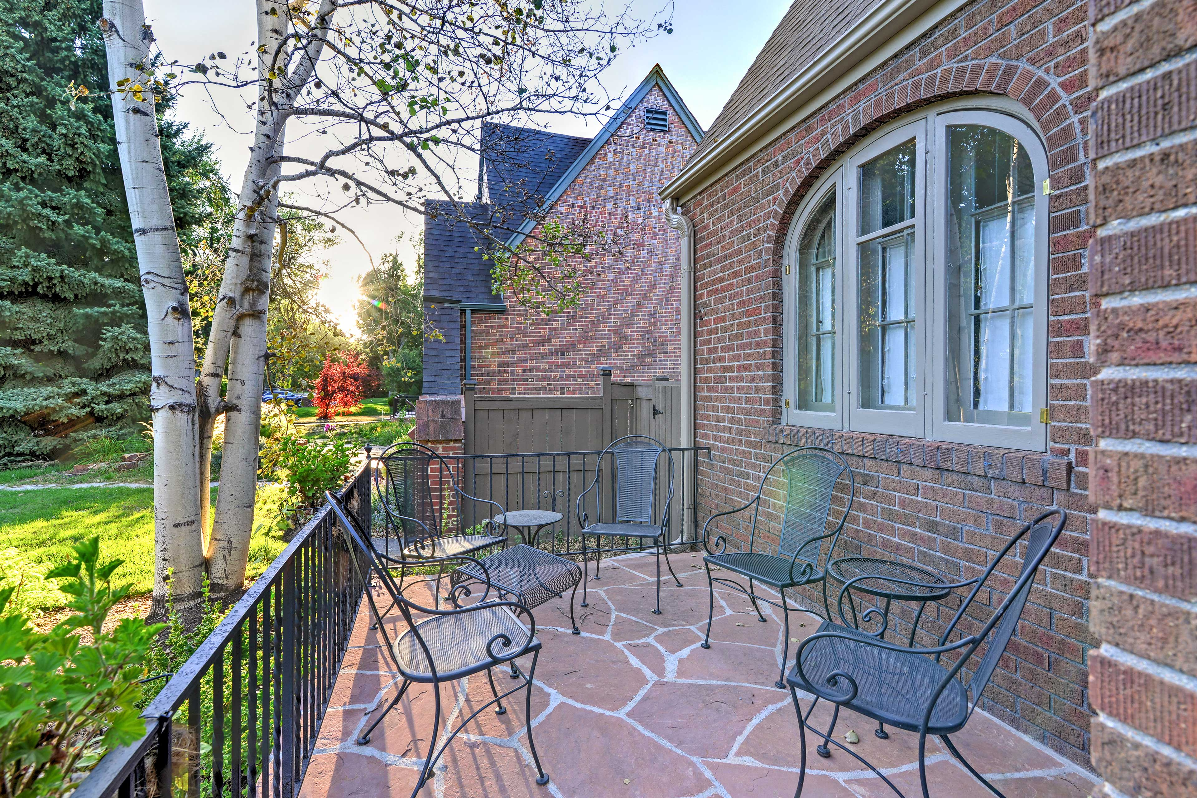 Step out onto the patio for fresh air and neighborhood views.