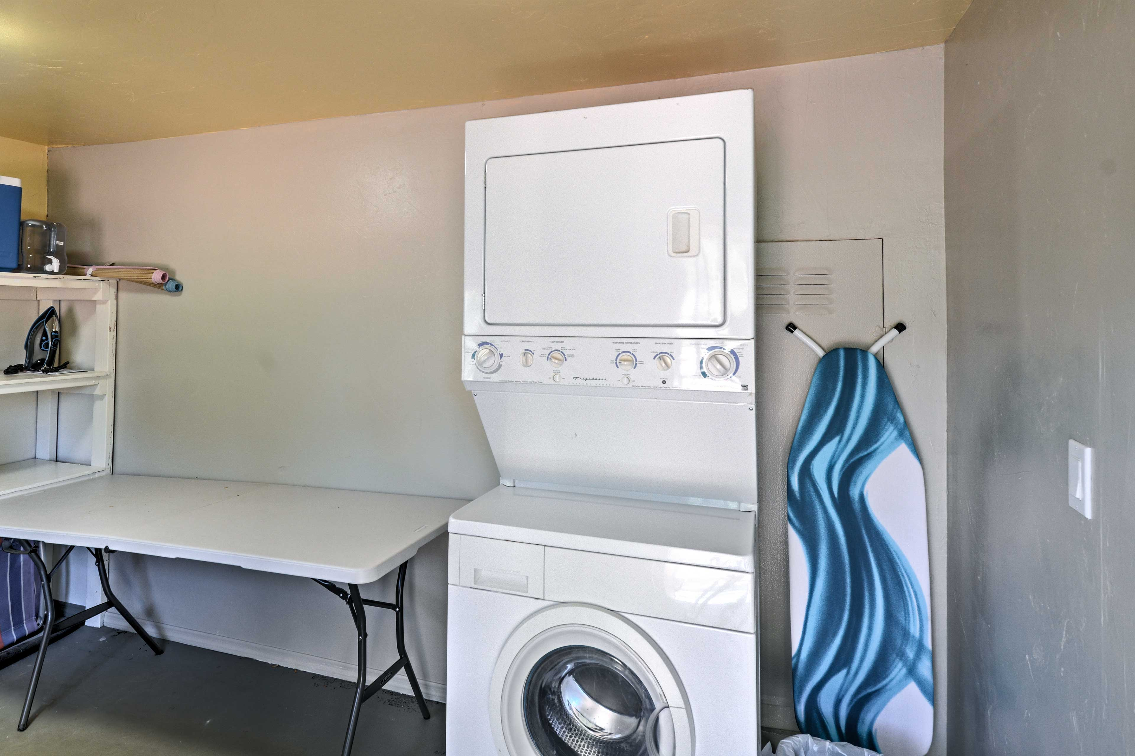 Keep your belongings fresh and clean during your stay.