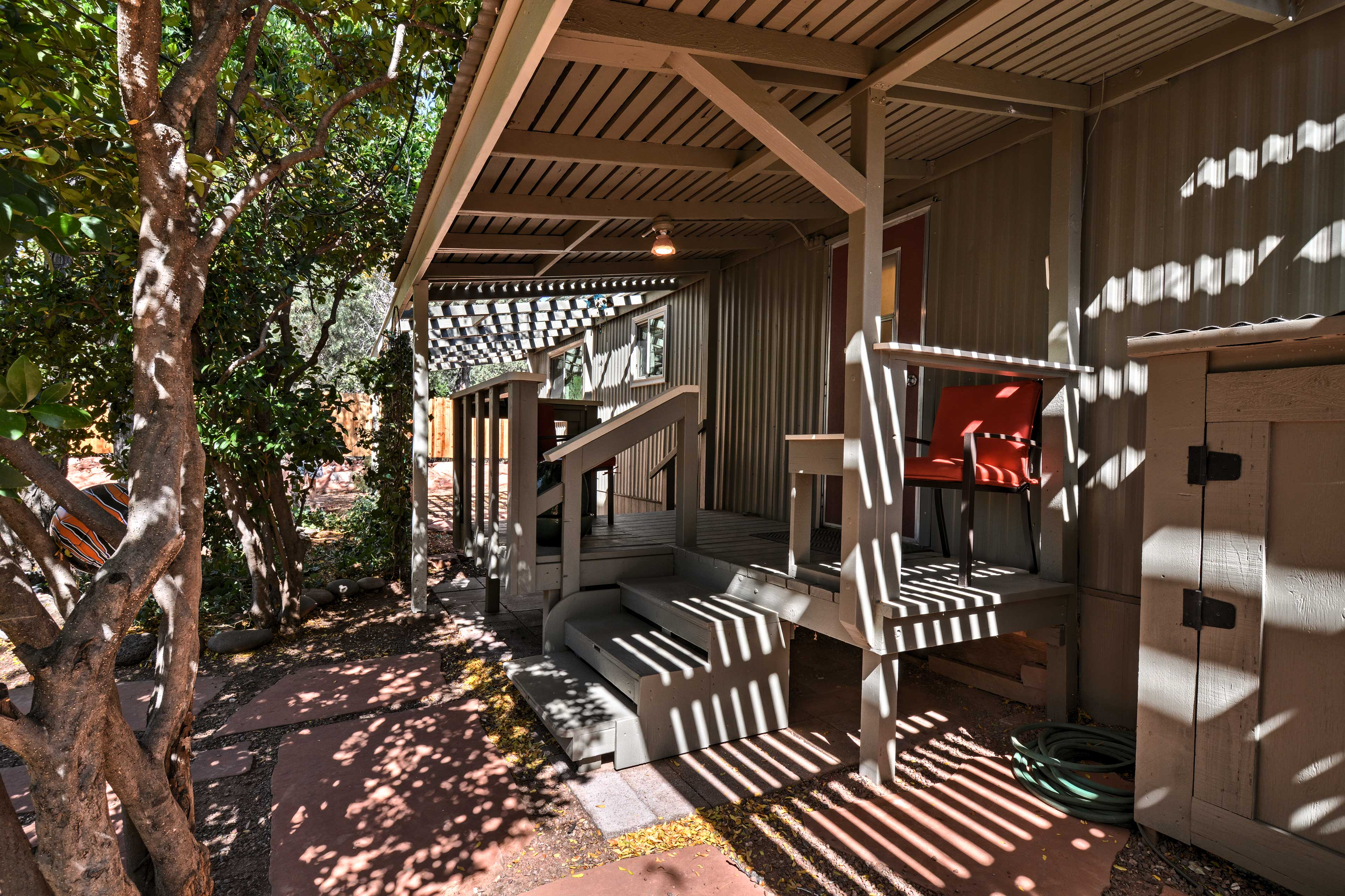 Step out on the front porch every morning with your cup of coffee.
