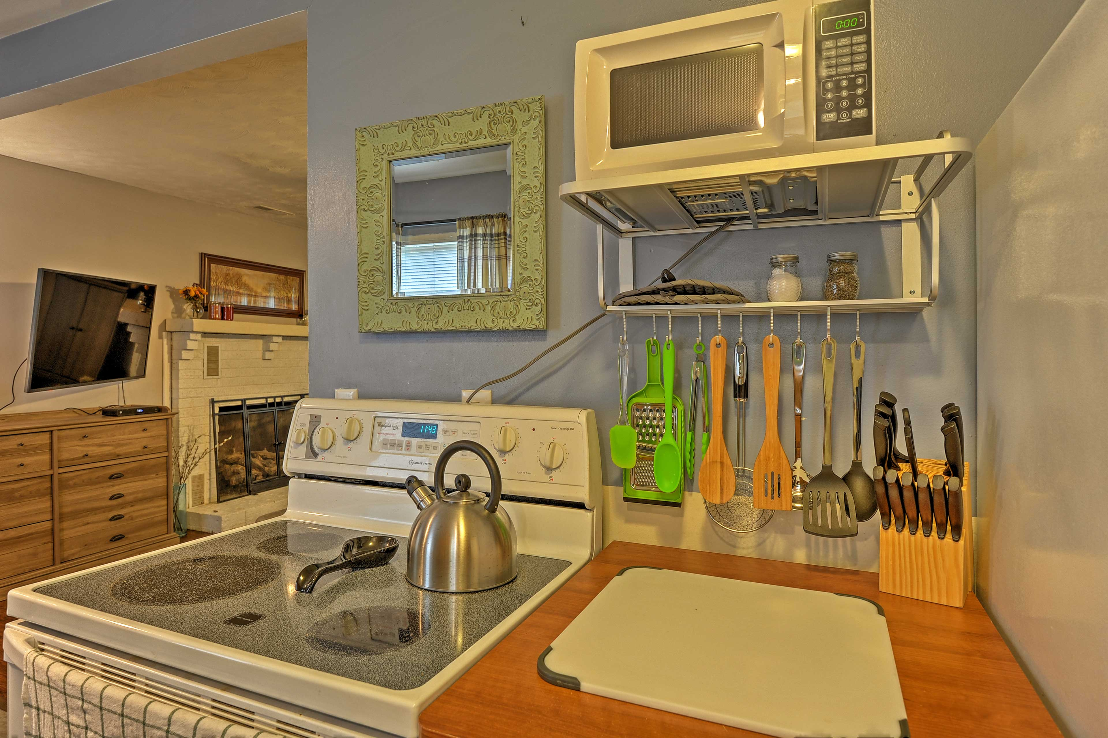 Make all of your meals in the fully equipped kitchen!