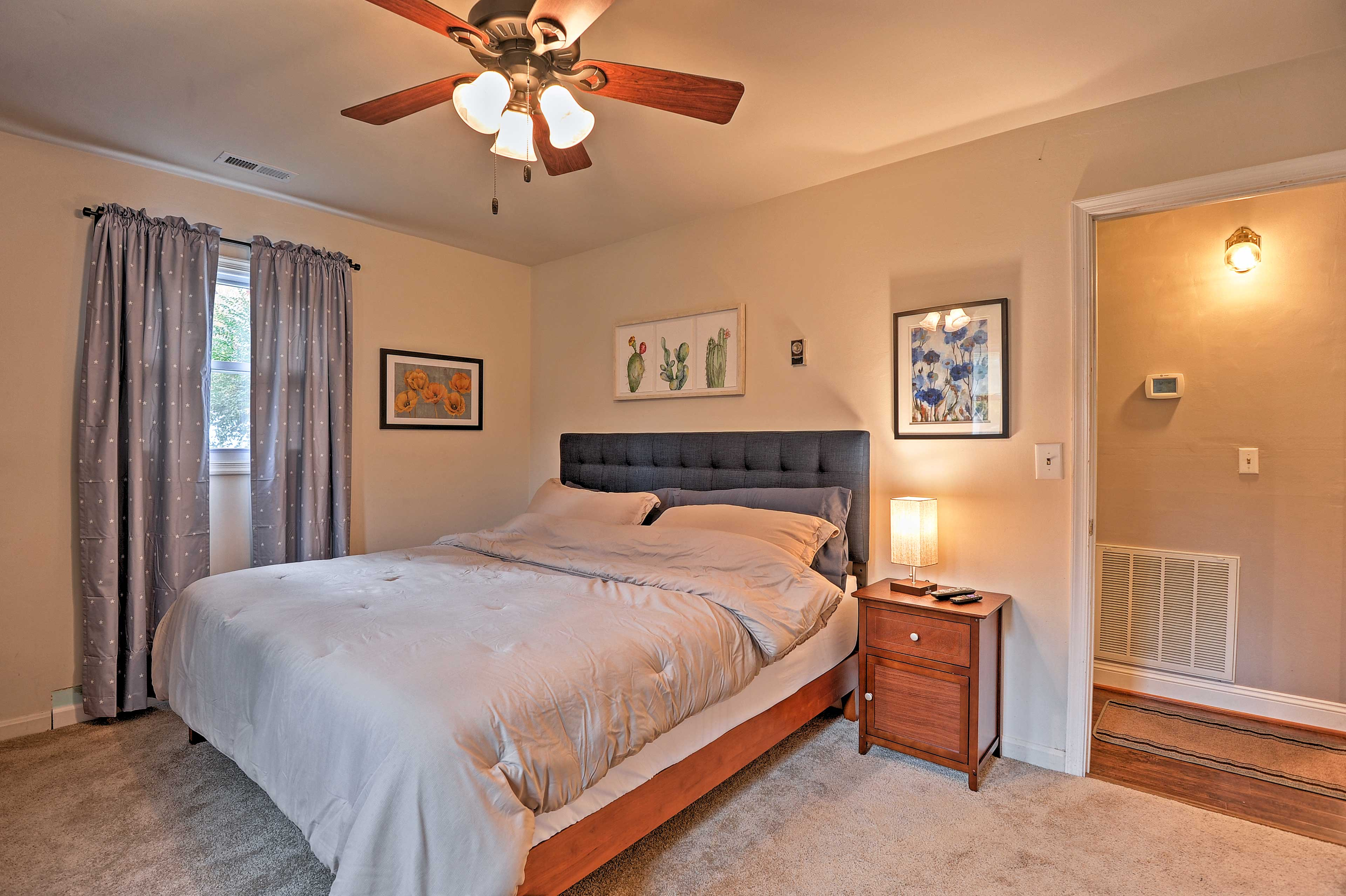 Head into the master bedroom!