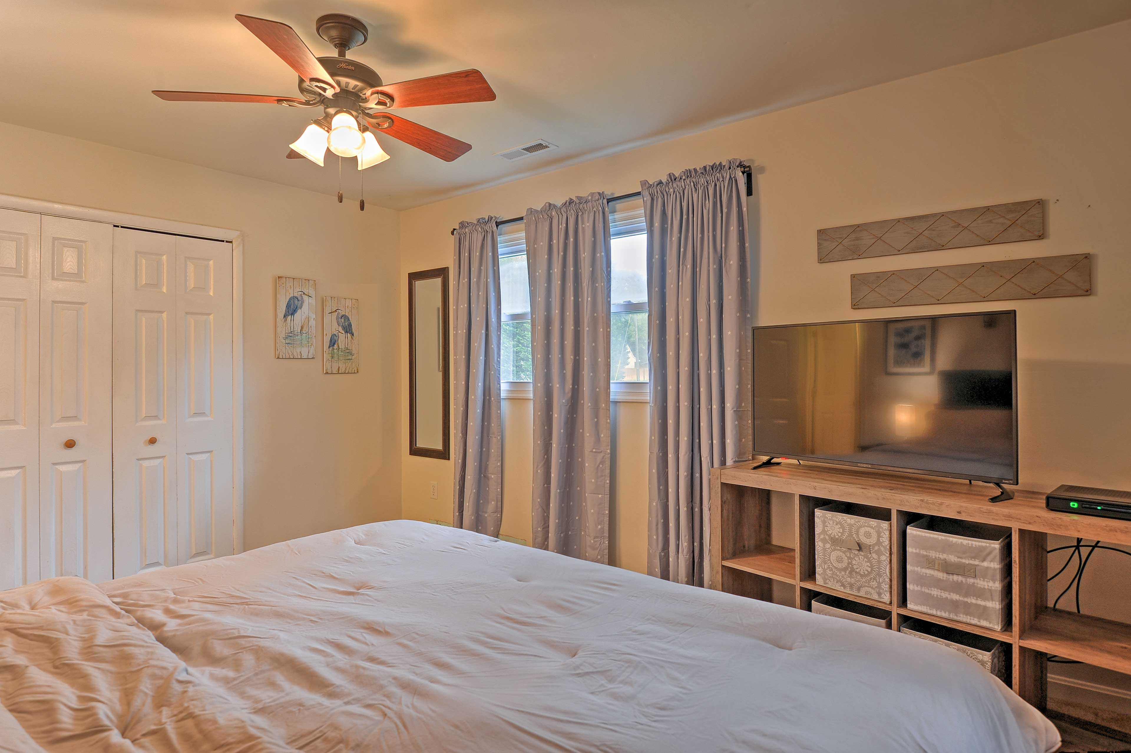 Ceiling fans keep you cool at night!