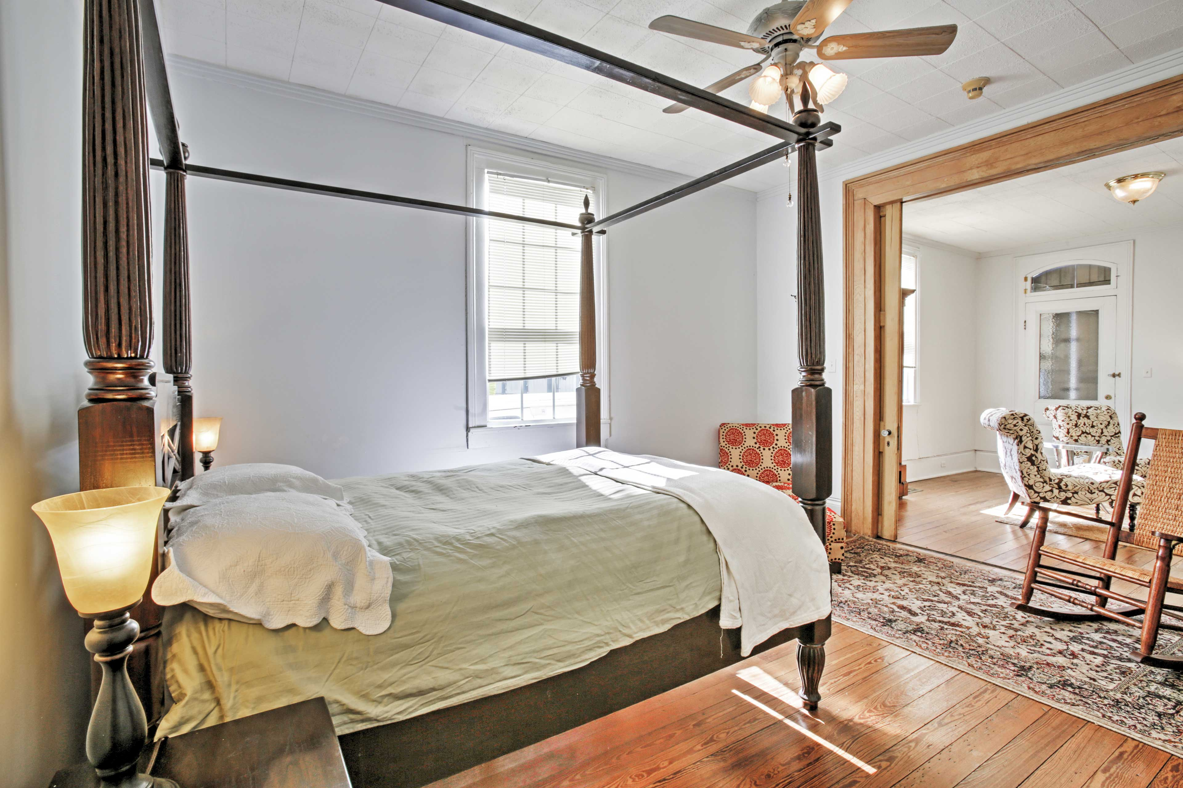 The master bedroom offers ample space to relax.