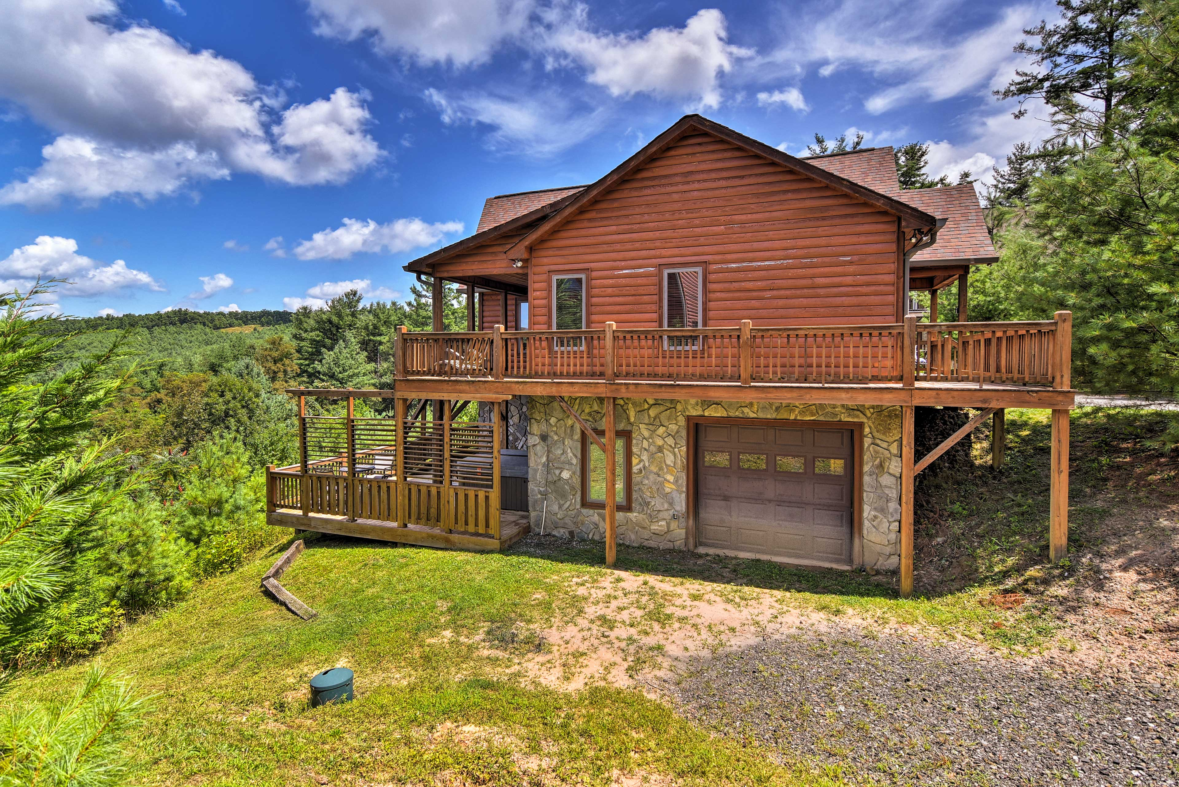 Escape to the mountains of North Carolina to stay at this vacation rental cabin.