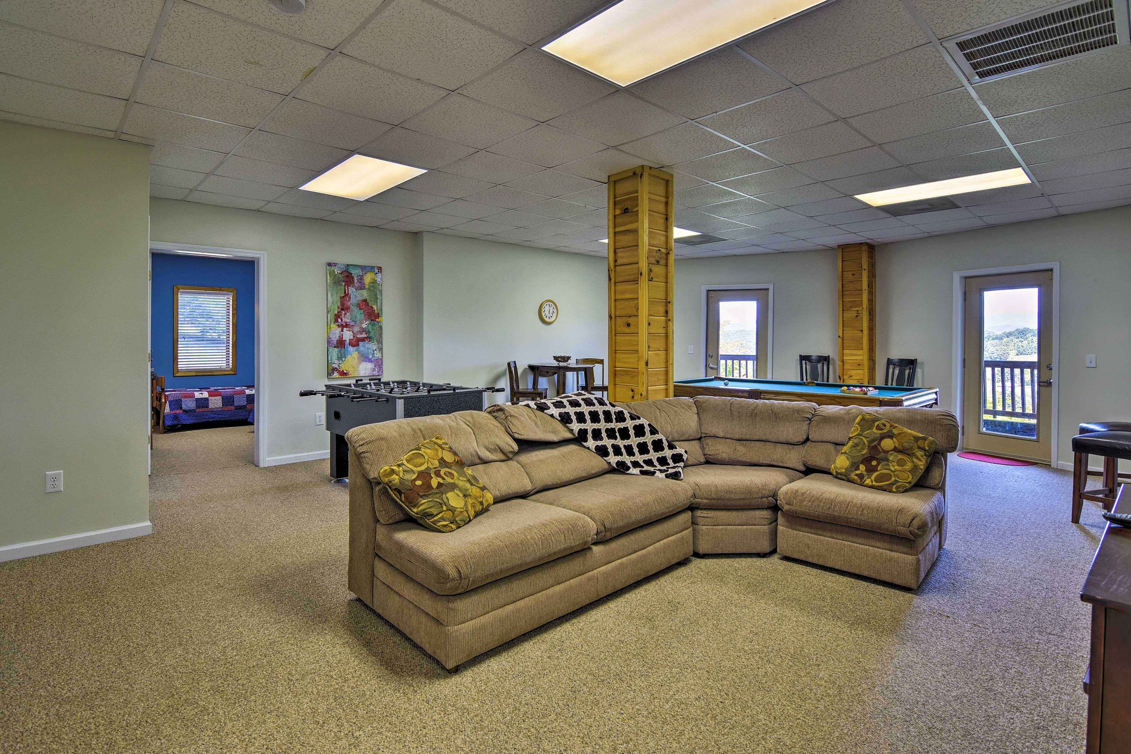 Play a game of foosball, ping pong, and more in the game room downstairs!