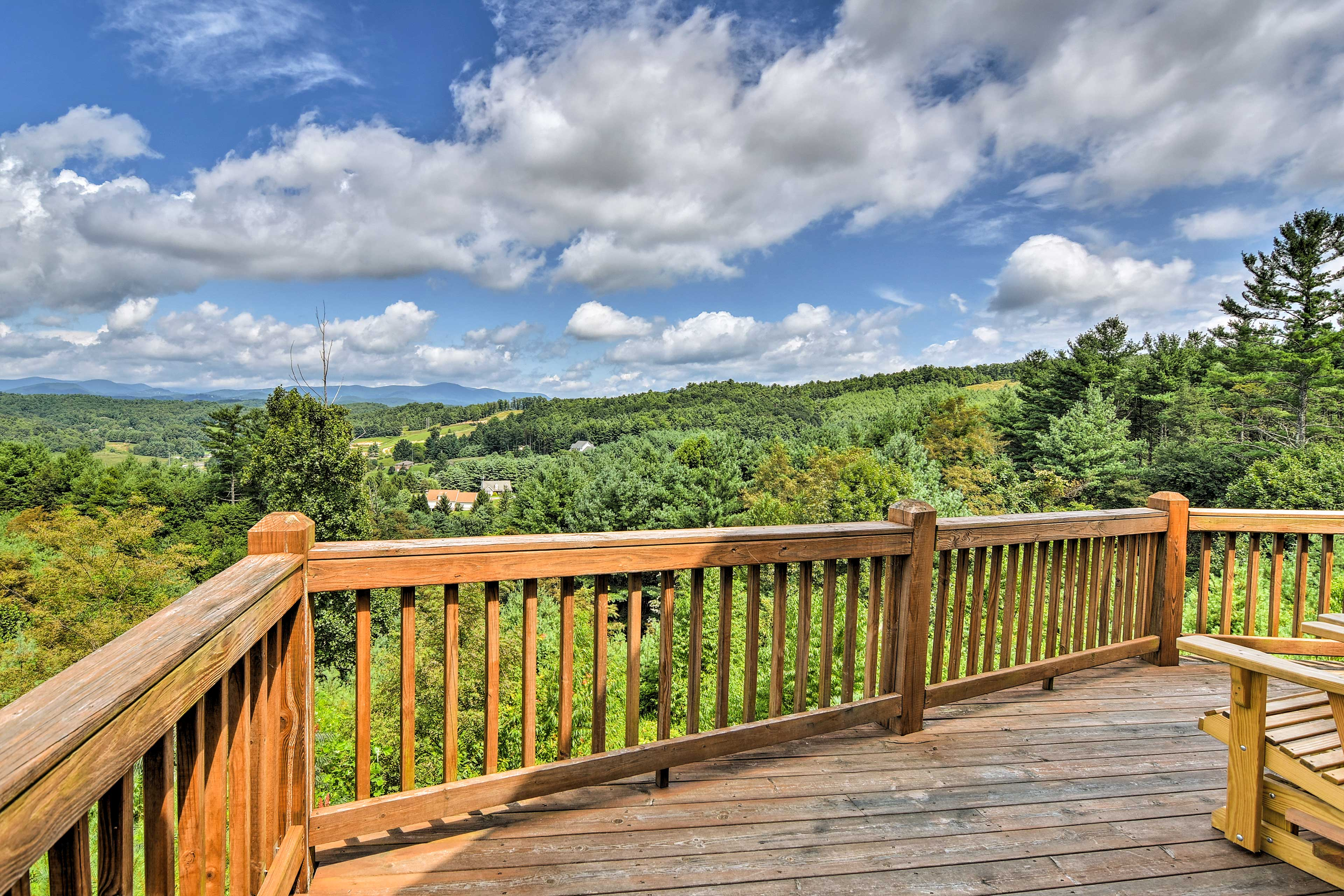 You'll have spectacular views no matter where you are on the deck!